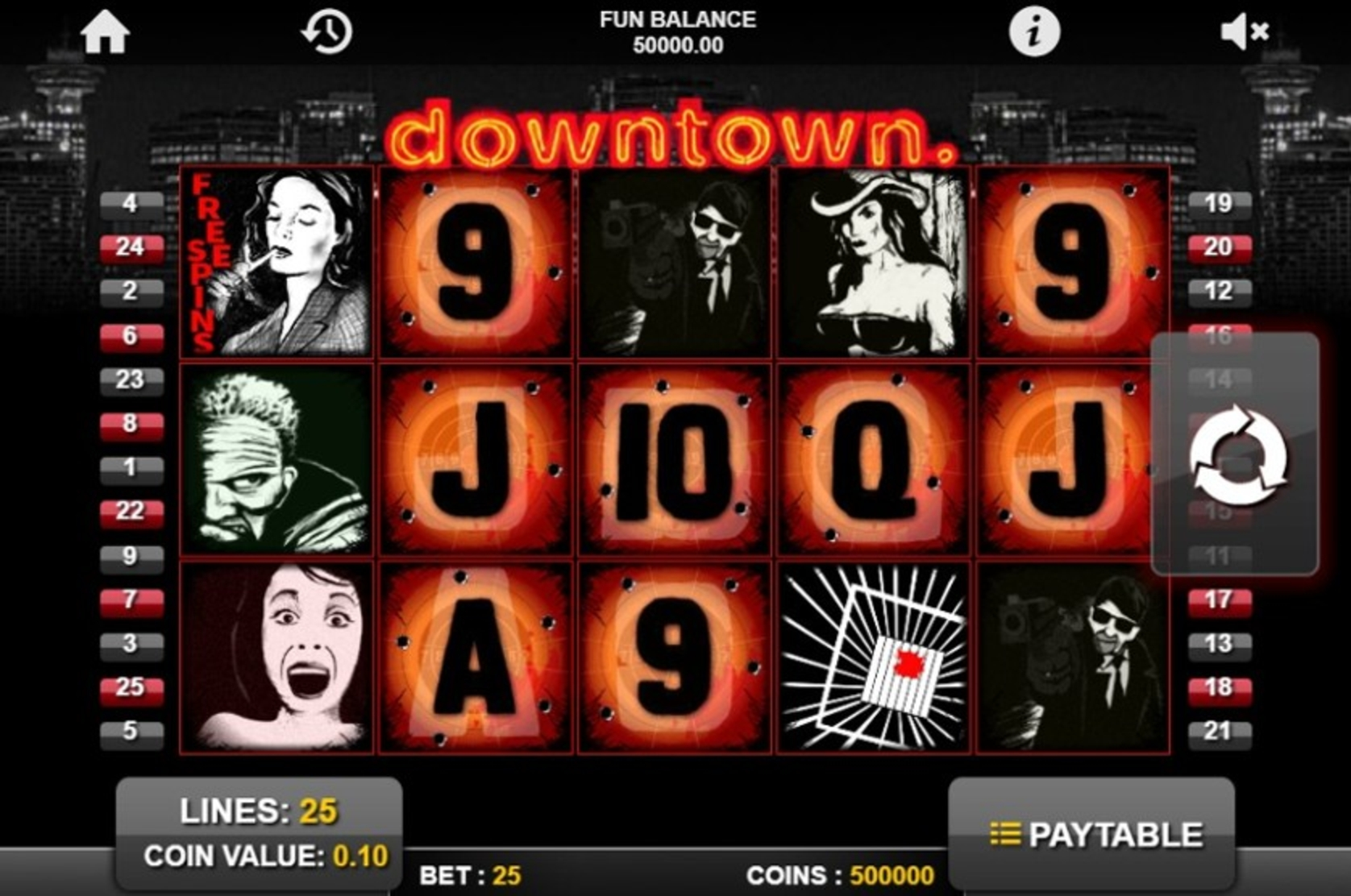The Downtown Online Slot Demo Game by 1x2 Gaming