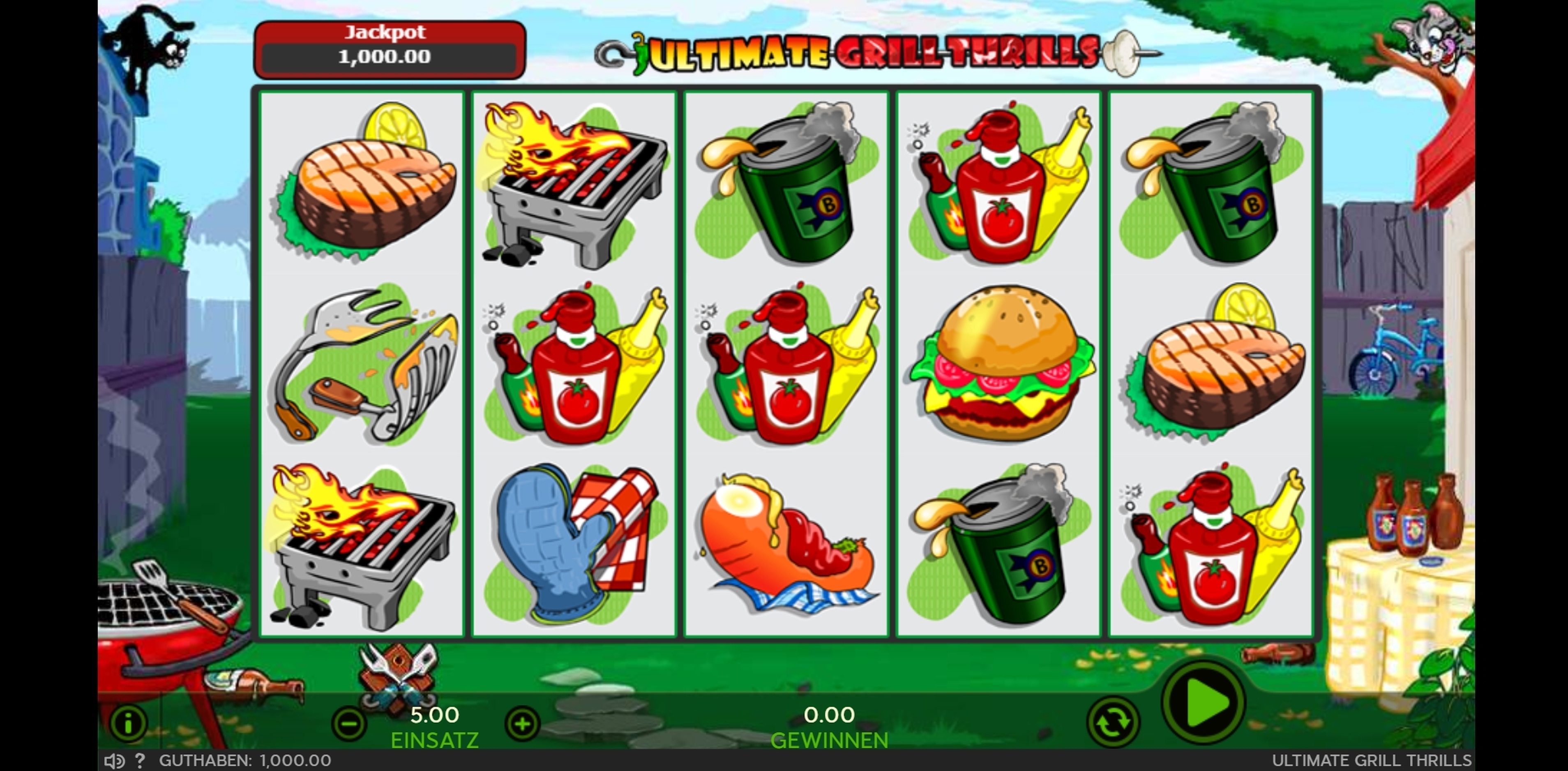 Reels in Ultimate Grill Thrills Slot Game by 888 Gaming