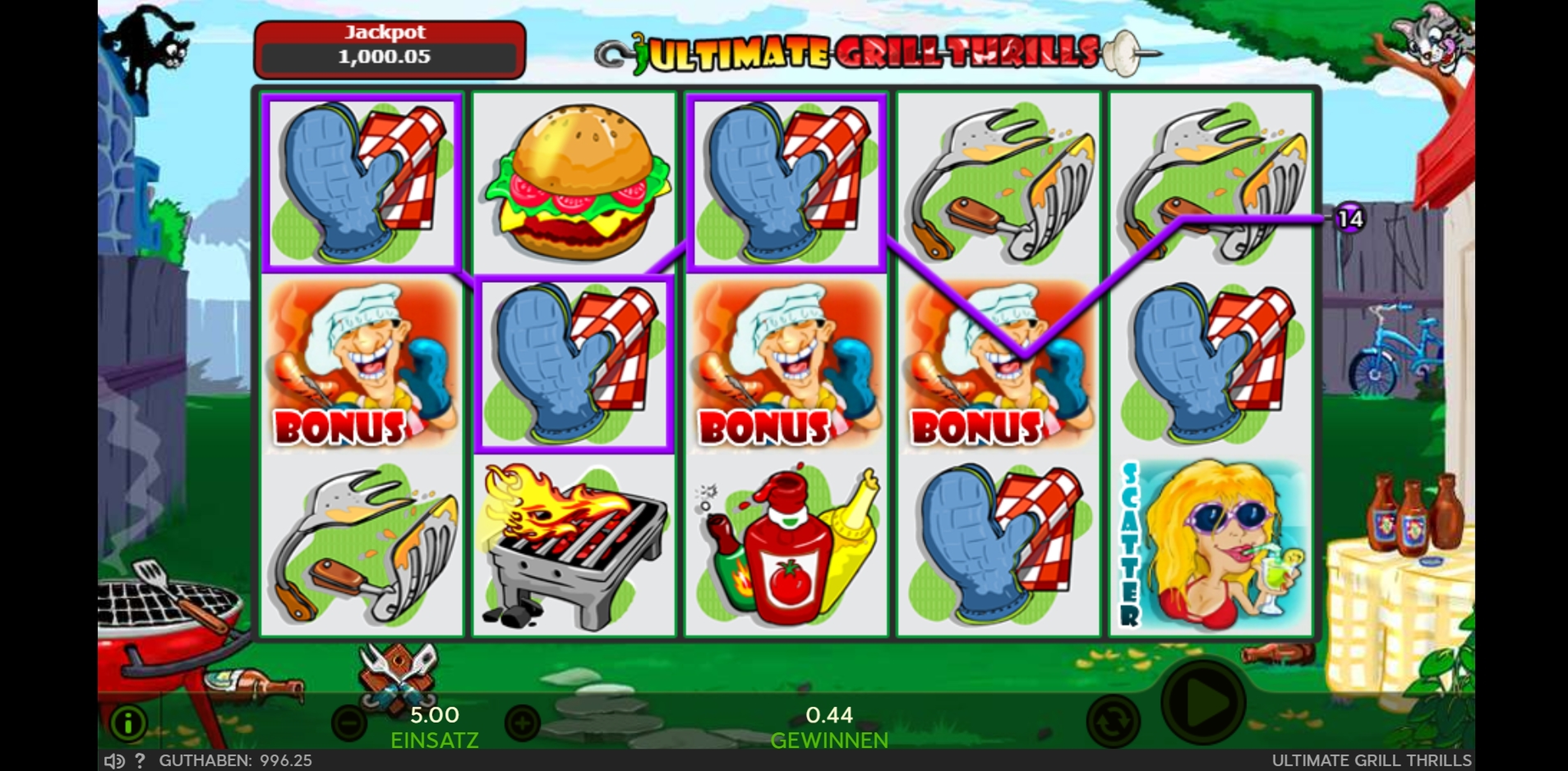 Win Money in Ultimate Grill Thrills Free Slot Game by 888 Gaming