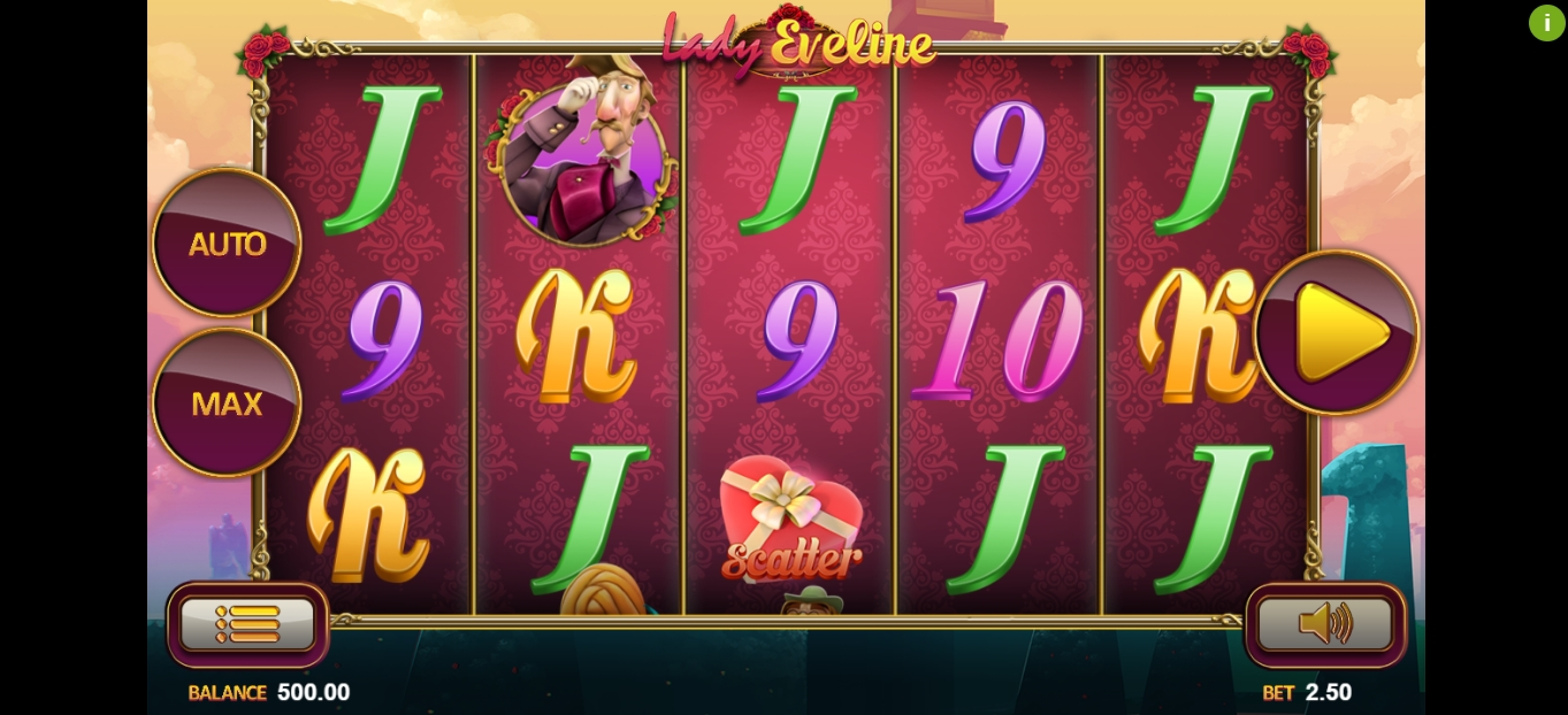 Reels in Lady Eveline Slot Game by Magma
