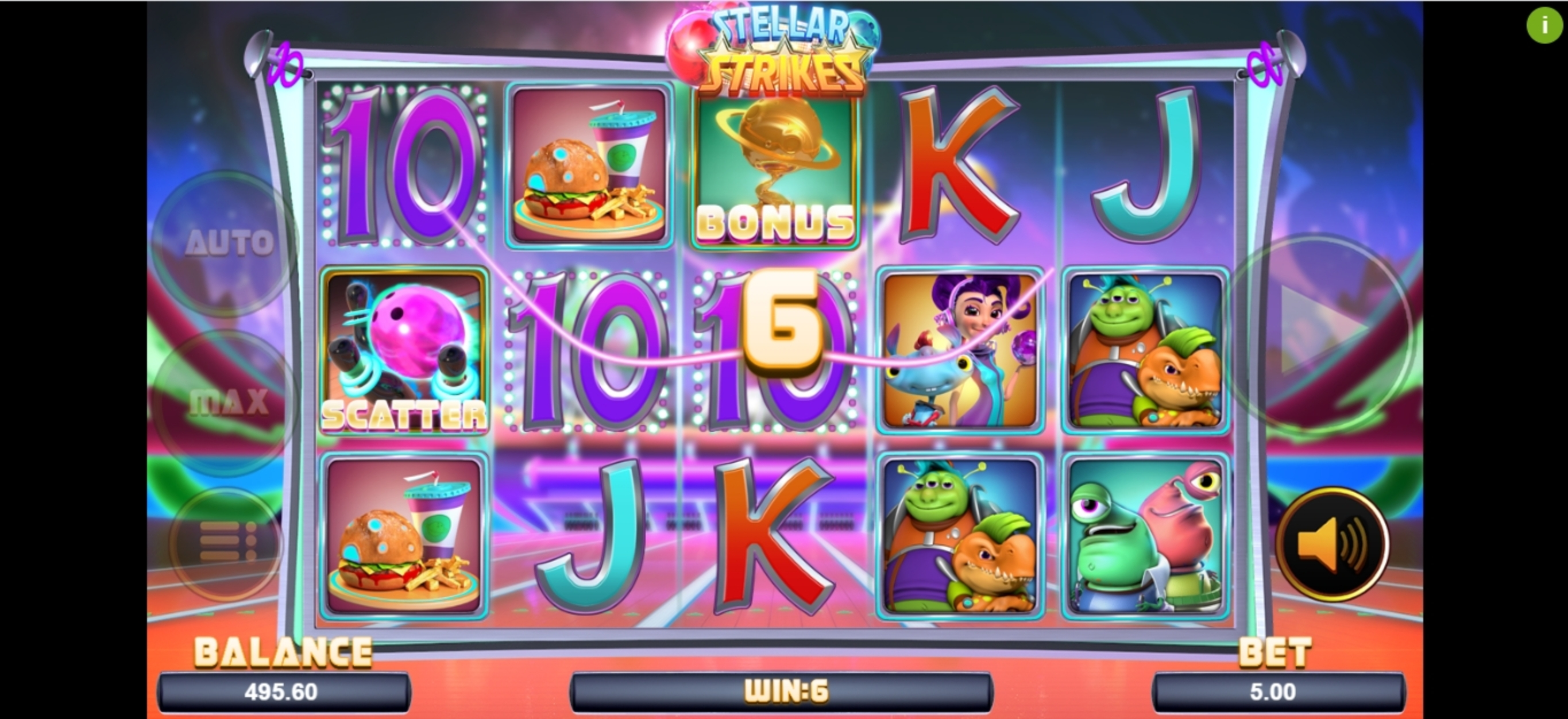 Win Money in Stellar Strikes Free Slot Game by Magma
