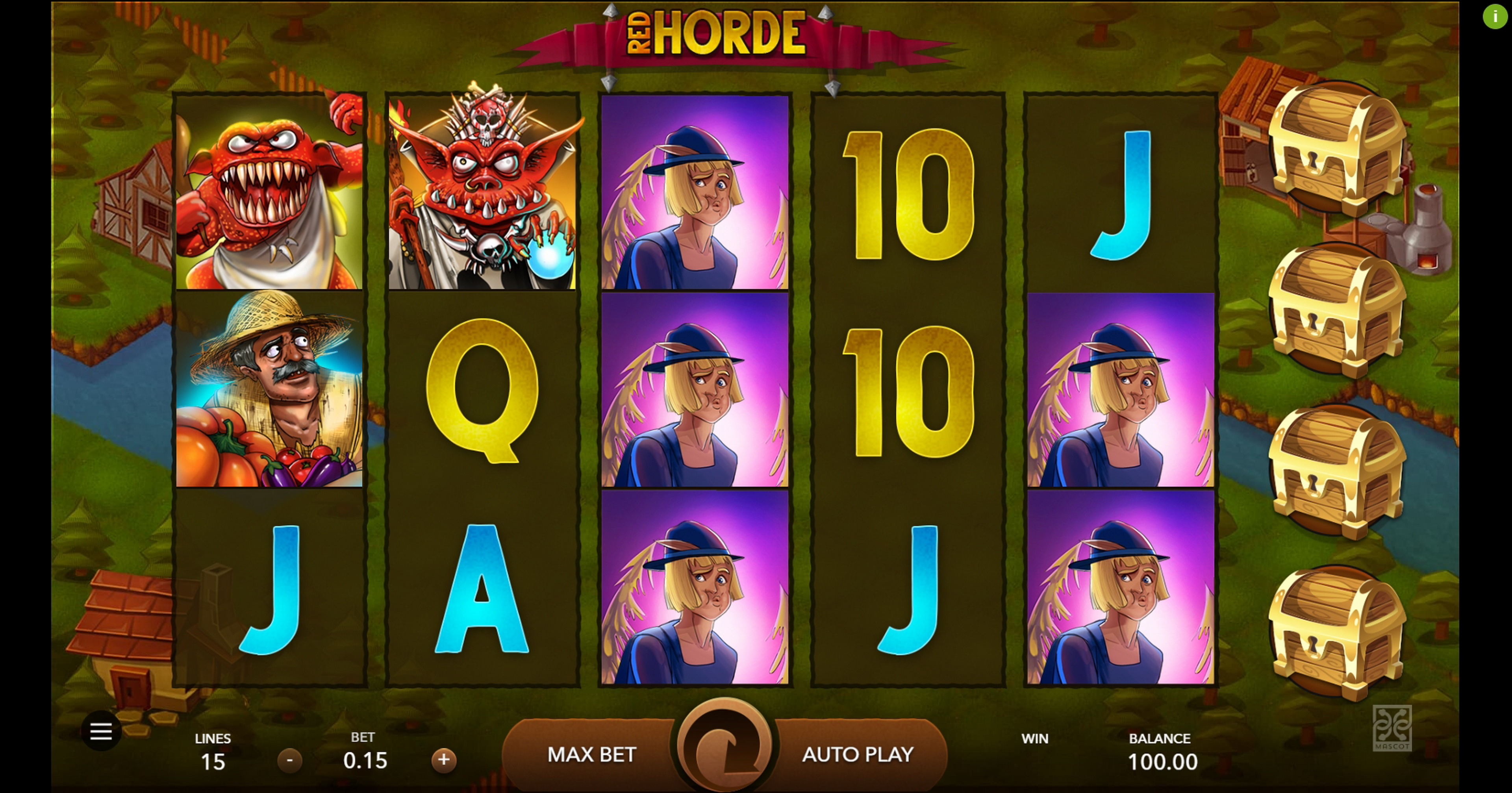 Reels in Red Horde Slot Game by Mascot Gaming