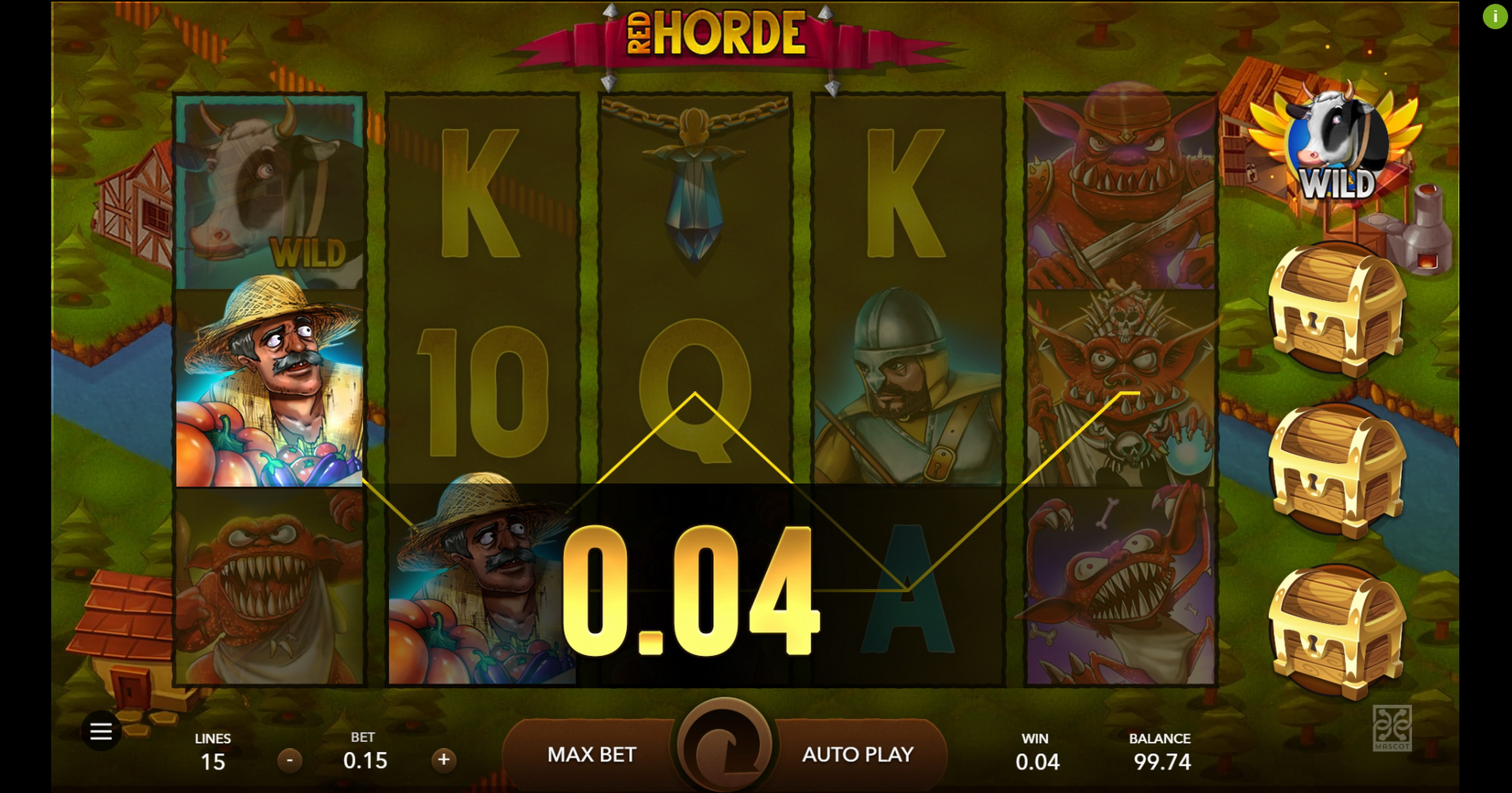Win Money in Red Horde Free Slot Game by Mascot Gaming