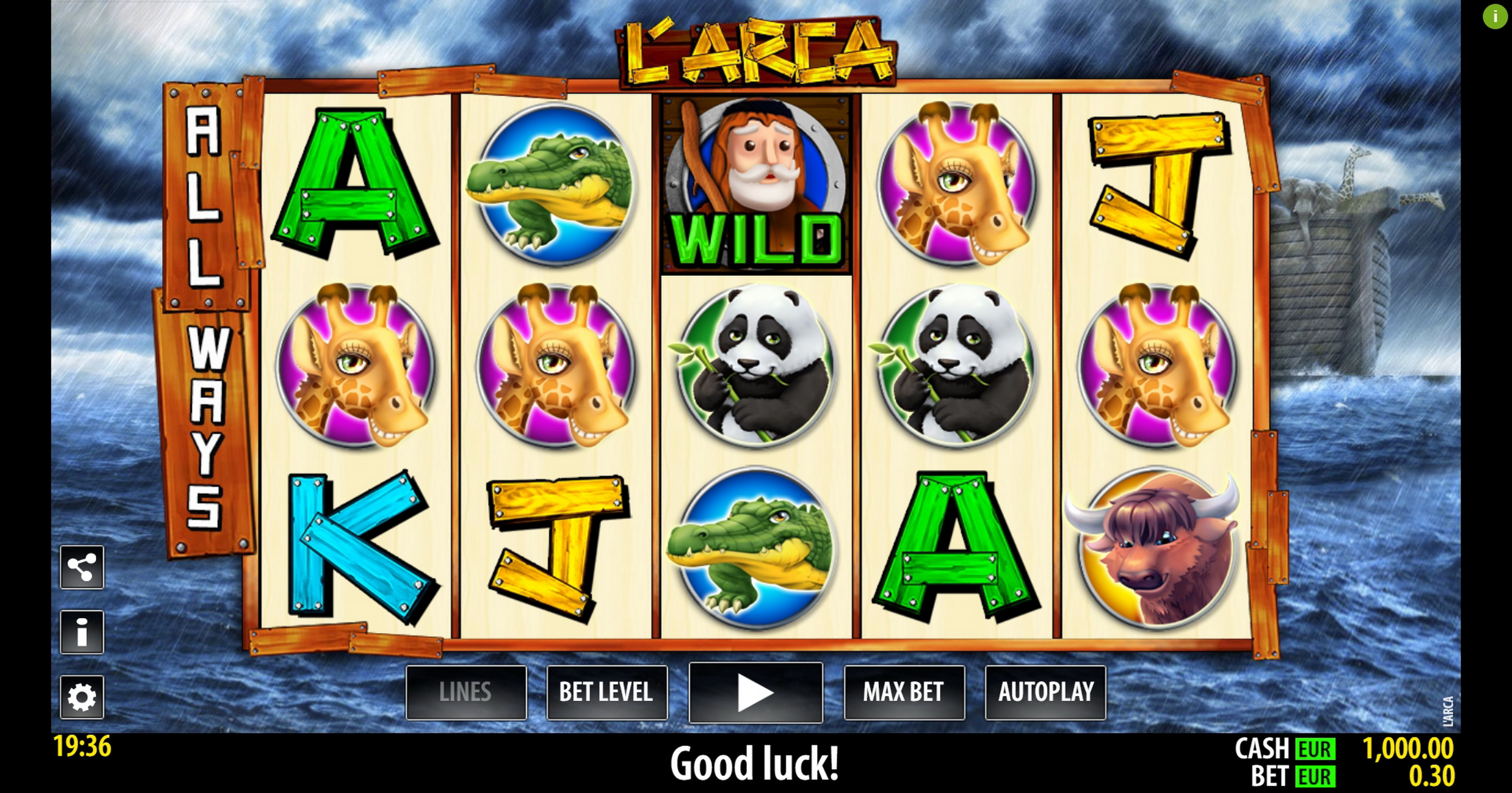 Reels in L'Arca Slot Game by Nazionale Elettronica