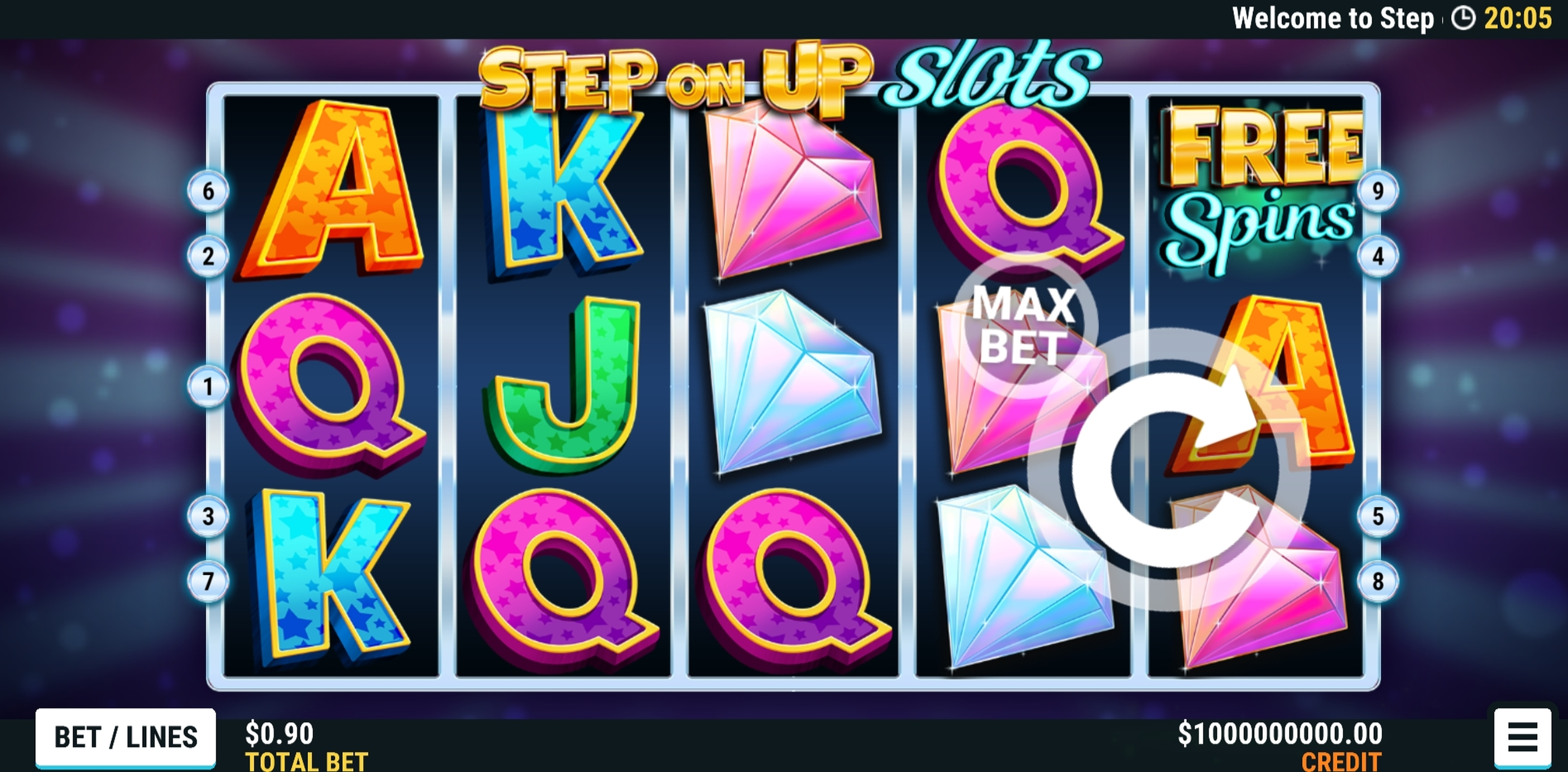Reels in Step on Up Slots Slot Game by Slot Factory