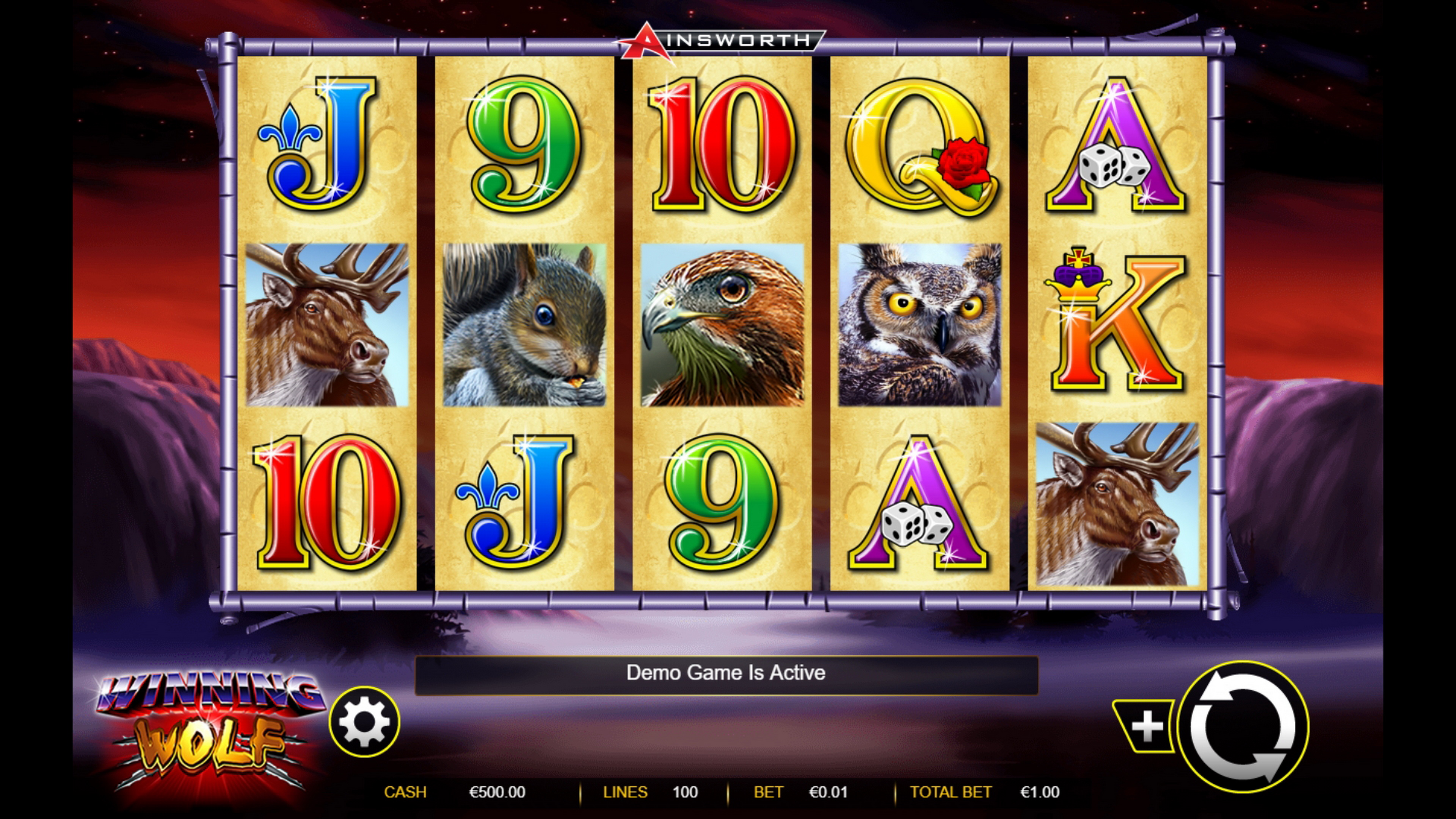 Reels in Winning Wolf Slot Game by Ainsworth Gaming Technology