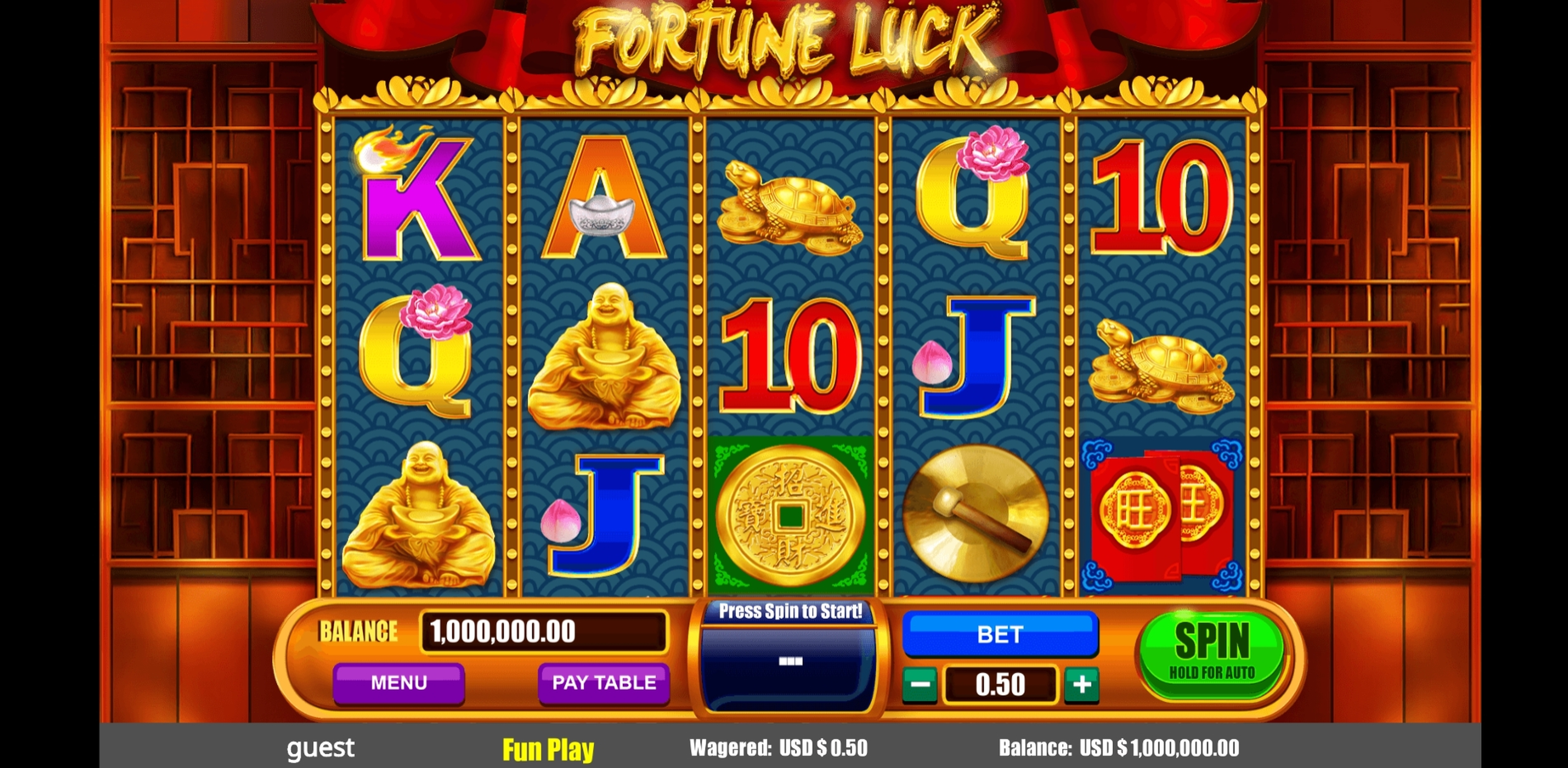 Reels in Fortune Luck Slot Game by August Gaming