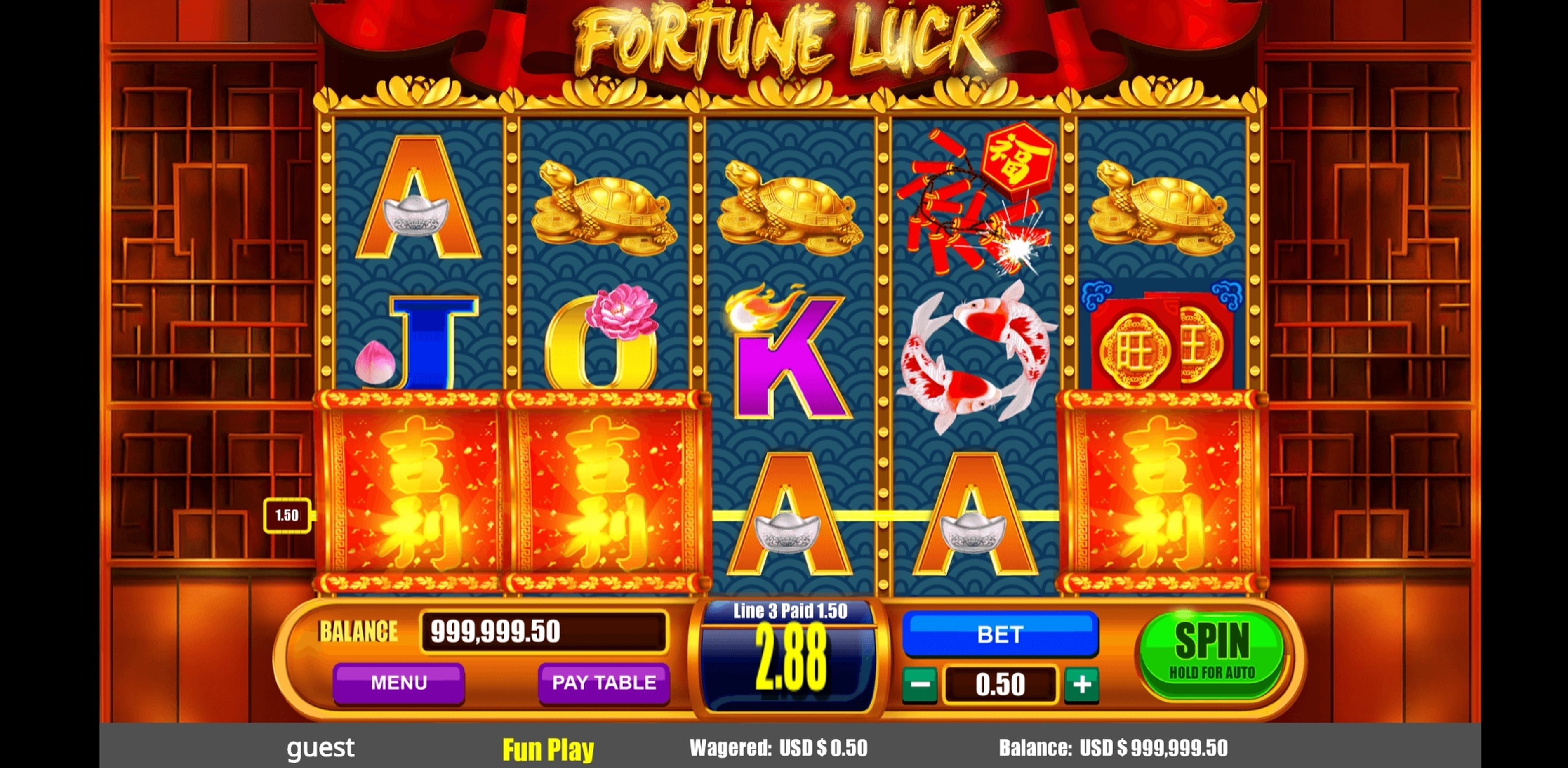 Win Money in Fortune Luck Free Slot Game by August Gaming