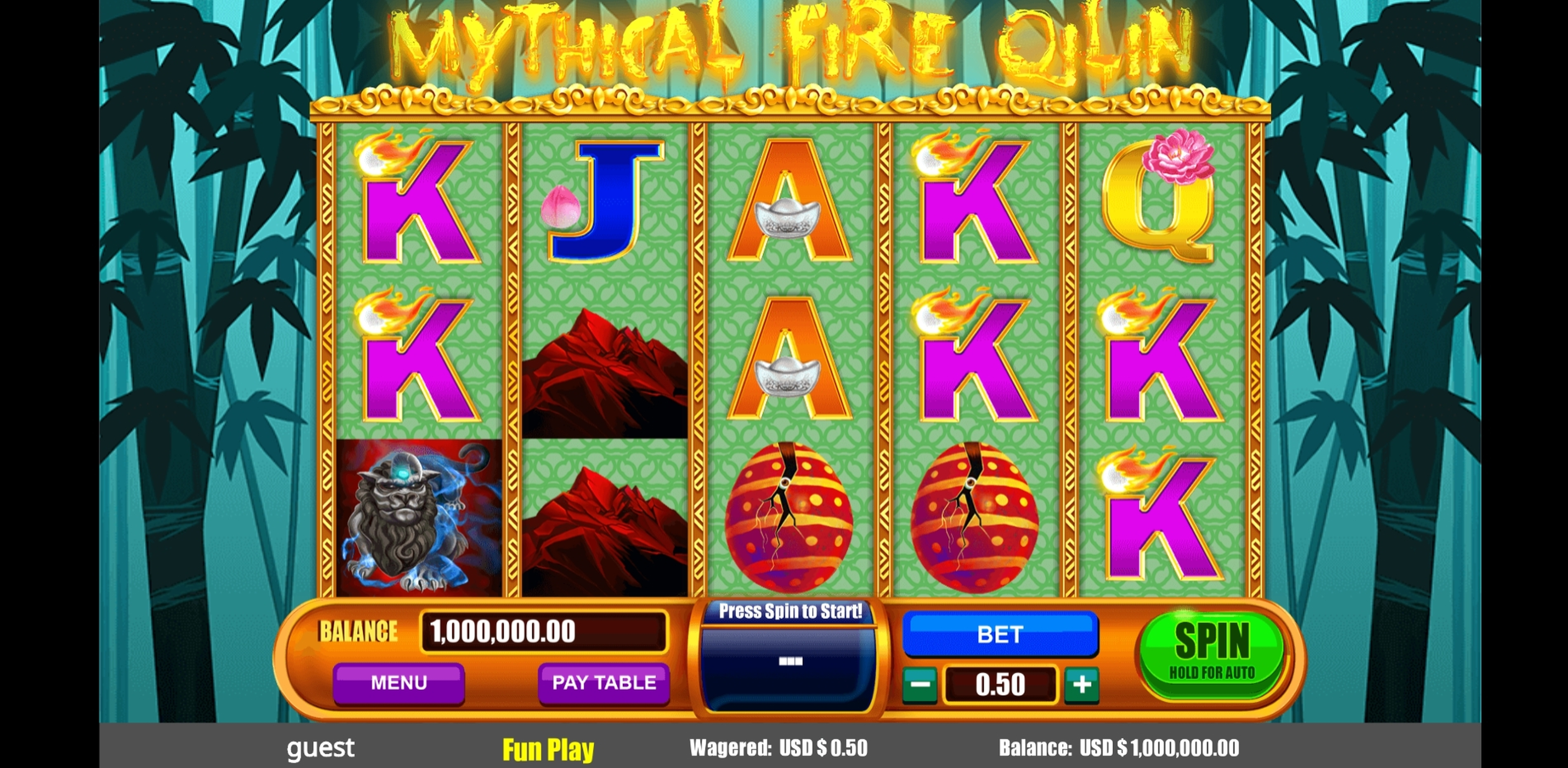Reels in Mythical Fire Qilin Slot Game by August Gaming