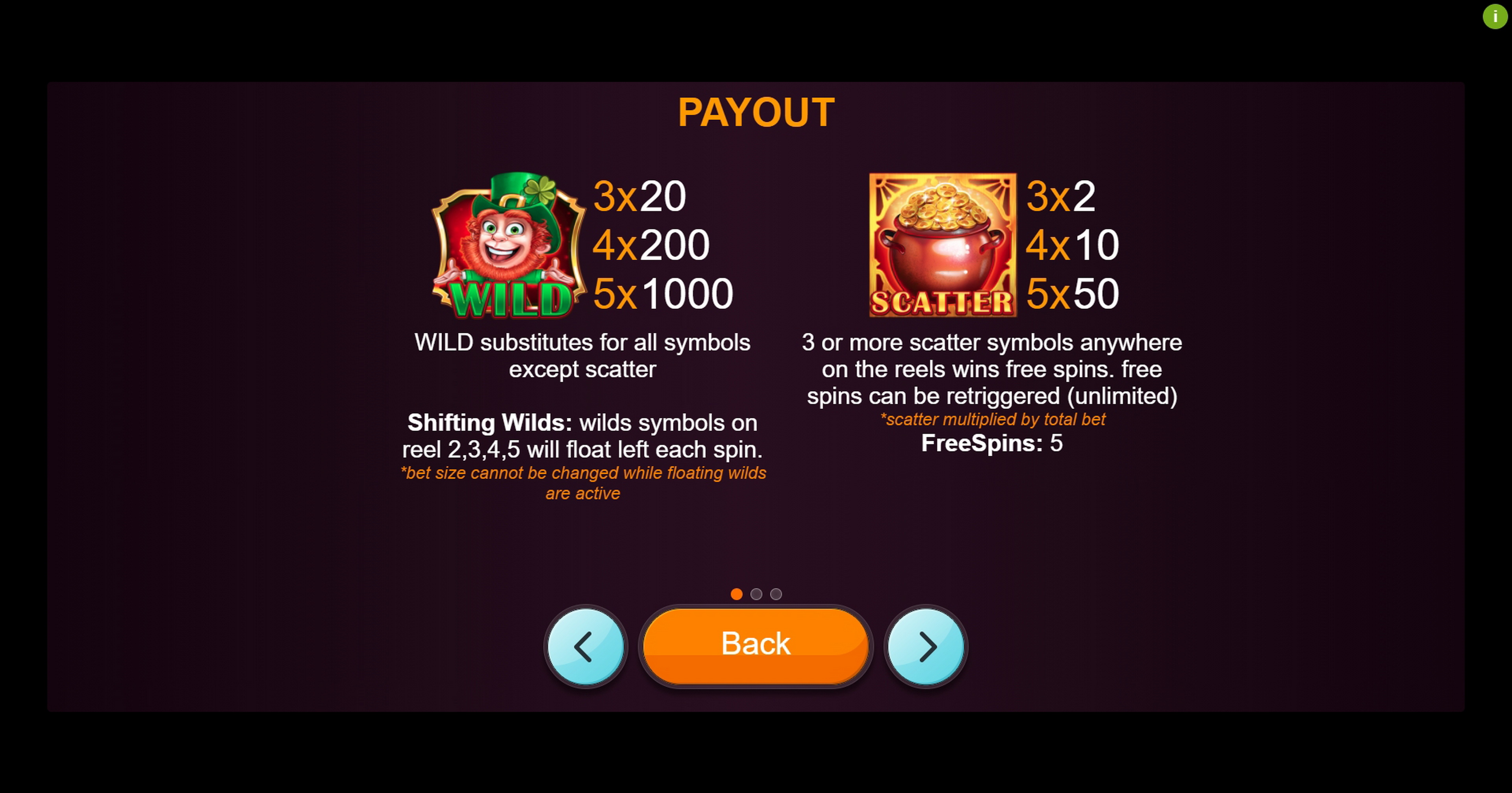 Info of Boots Of Luck Slot Game by betiXon