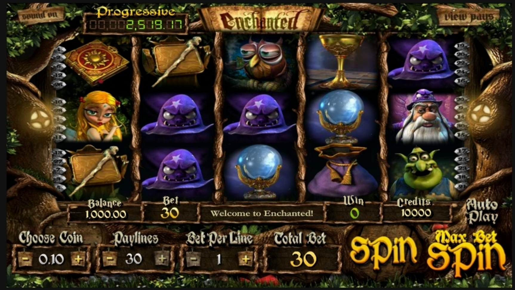 Reels in Enchanted (Betsoft) Slot Game by Betsoft