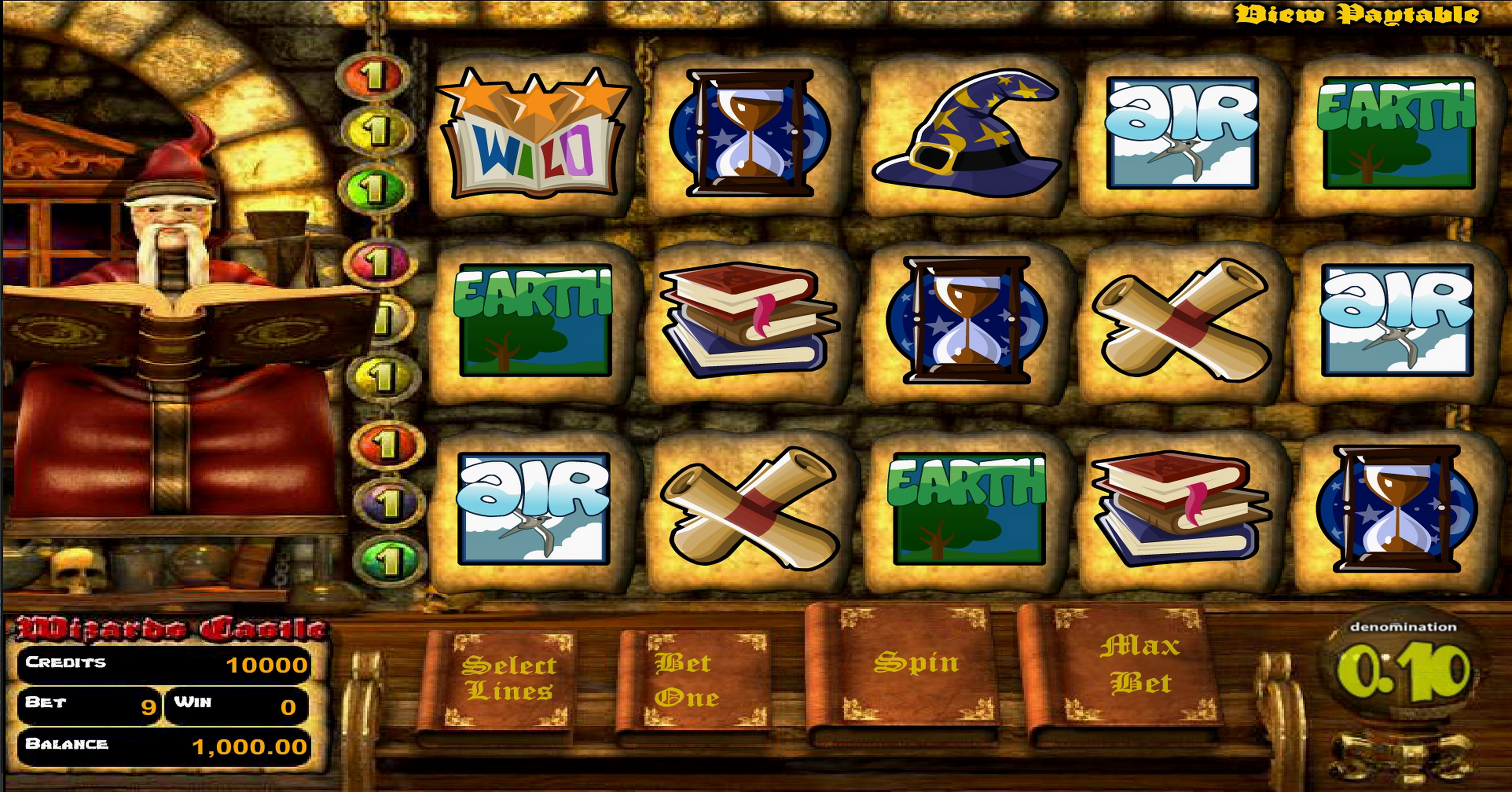 Reels in Wizard's Castle Slot Game by Betsoft