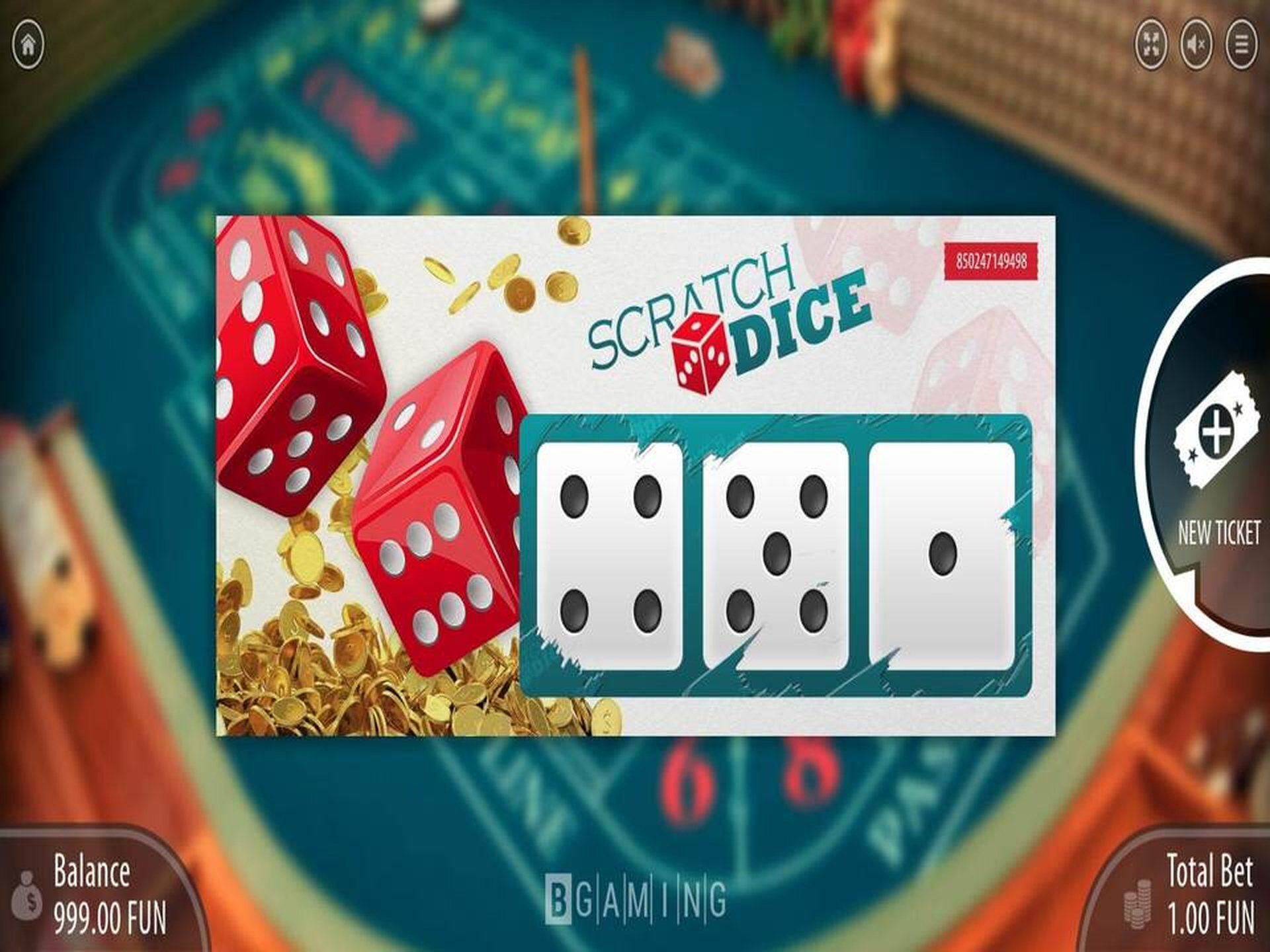 The Scratch Dice Online Slot Demo Game by BGAMING