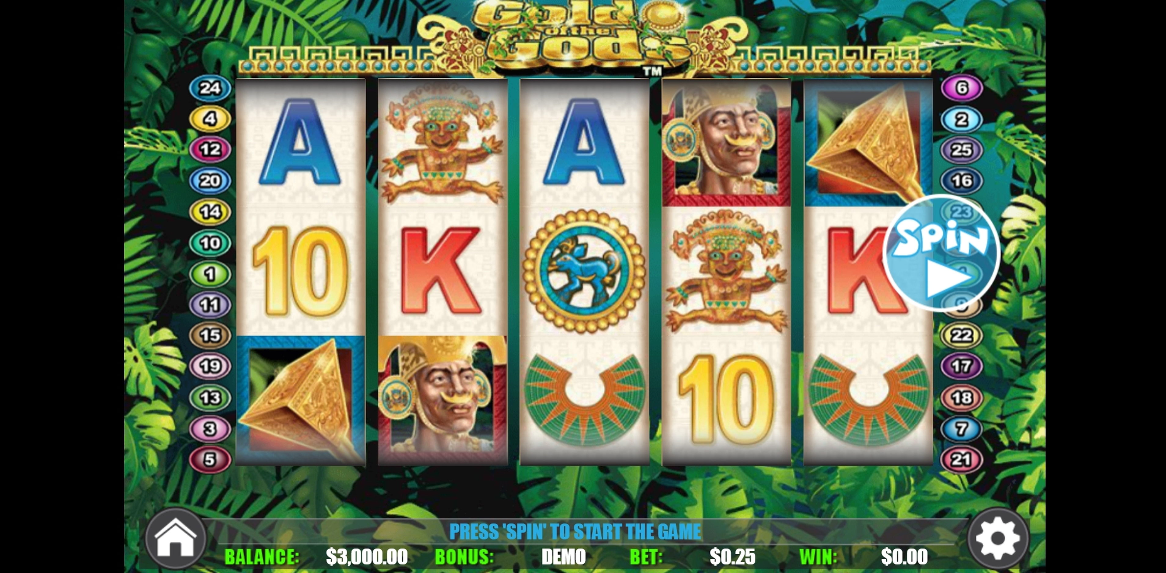 Win Money in Gold of the Gods Free Slot Game by BwinParty