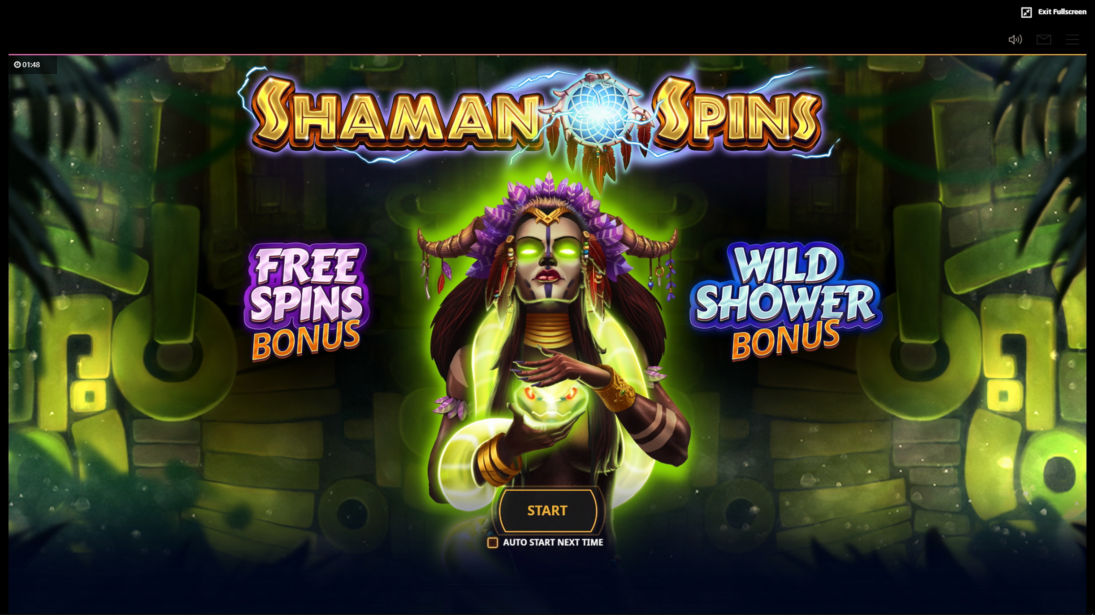 Play Shaman Spins Free Casino Slot Game by Cayetano Gaming