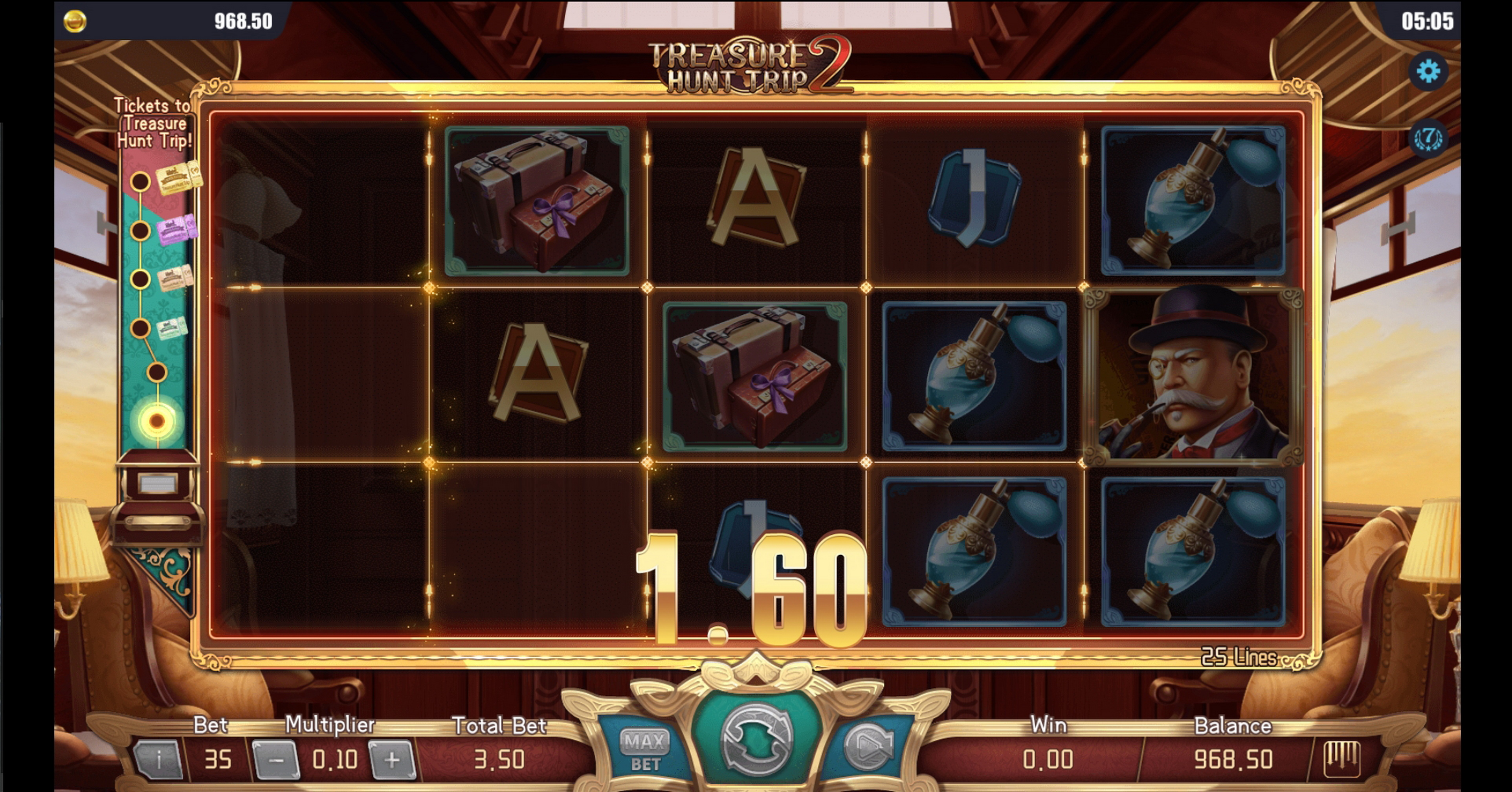 Win Money in Treasure Hunt Trip 2 Free Slot Game by Dream Tech