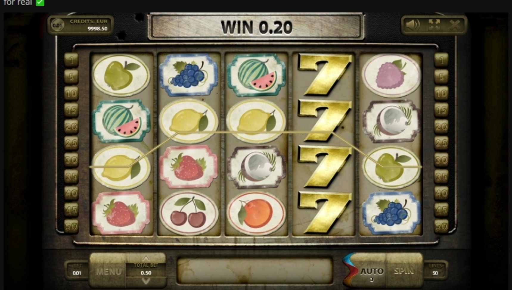 Win Money in Wild Fruits (Endorphina) Free Slot Game by Endorphina