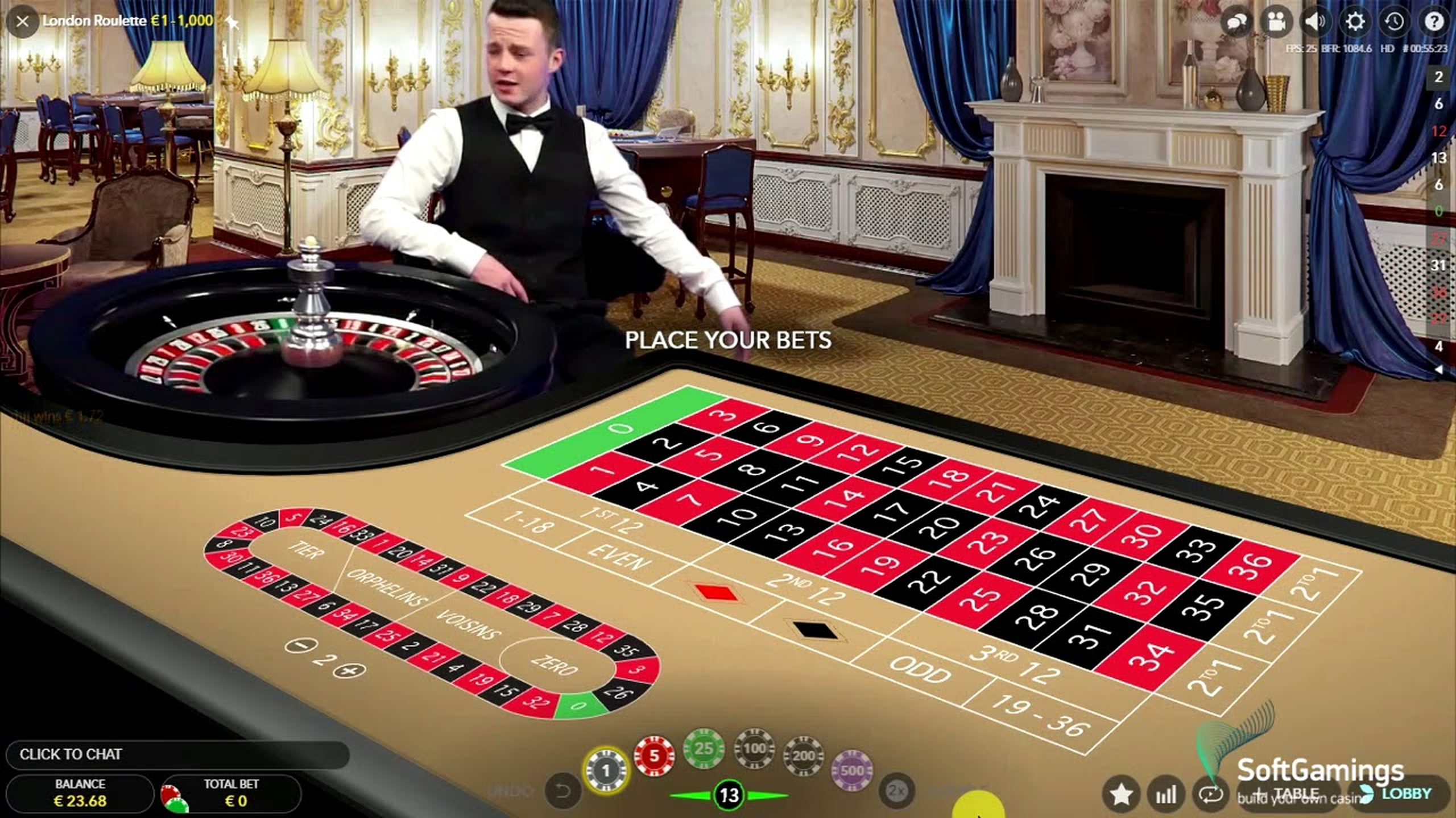 The London Roulette (Evolution Gaming) Online Slot Demo Game by Evolution Gaming