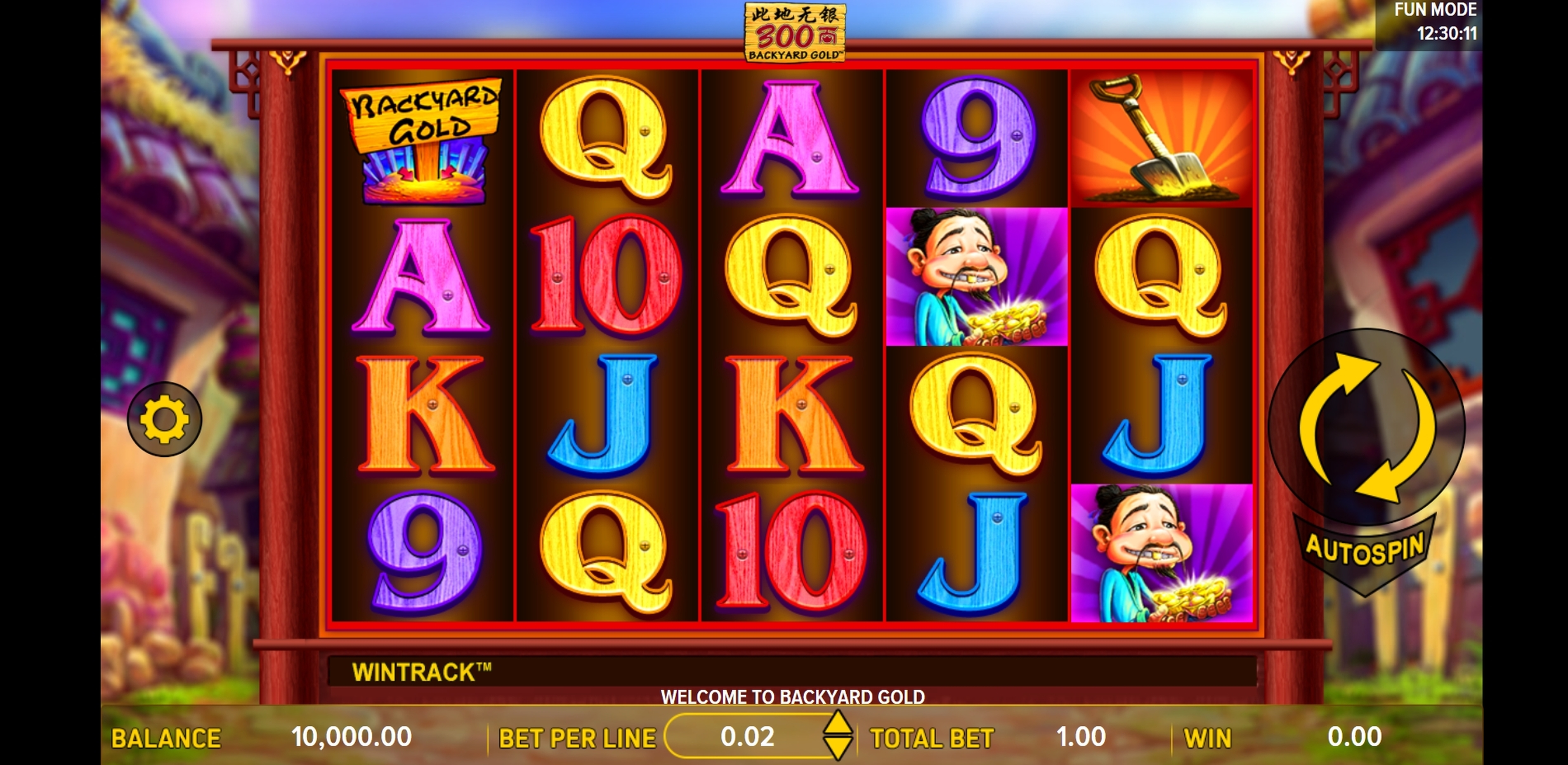 Reels in Backyard Gold Slot Game by Gameiom