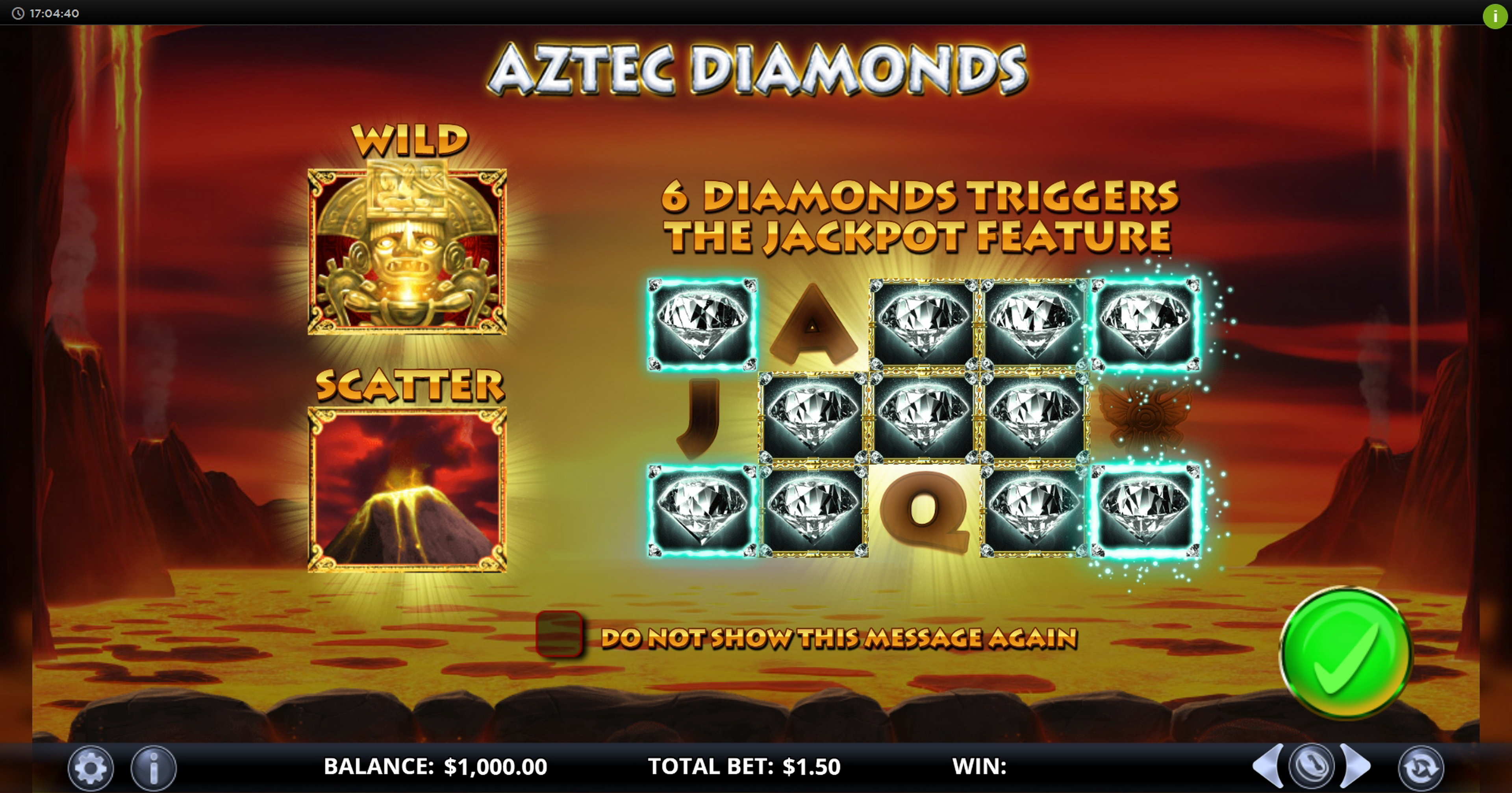 Play Aztec Diamonds Free Casino Slot Game by Games Lab