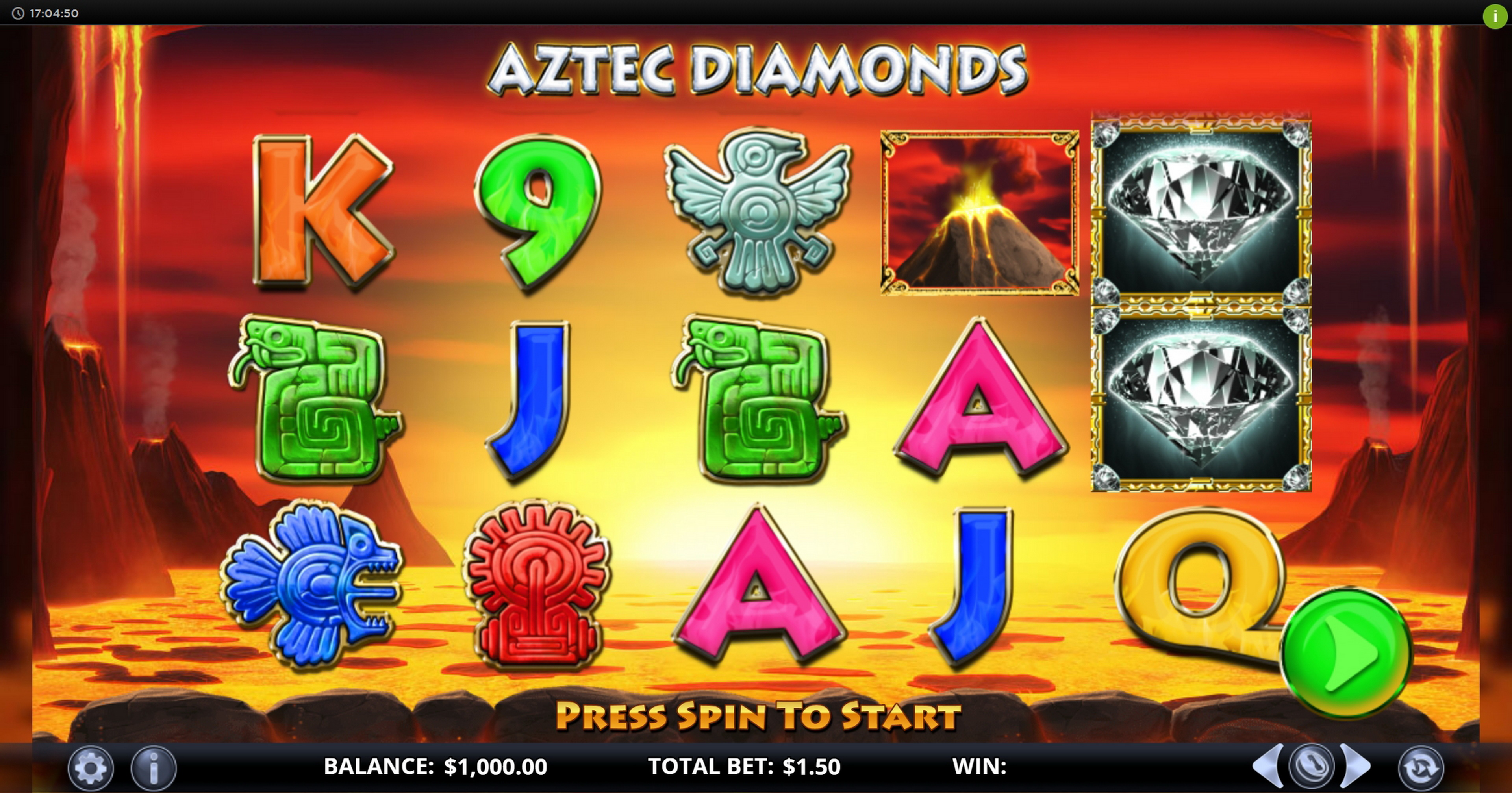 Reels in Aztec Diamonds Slot Game by Games Lab
