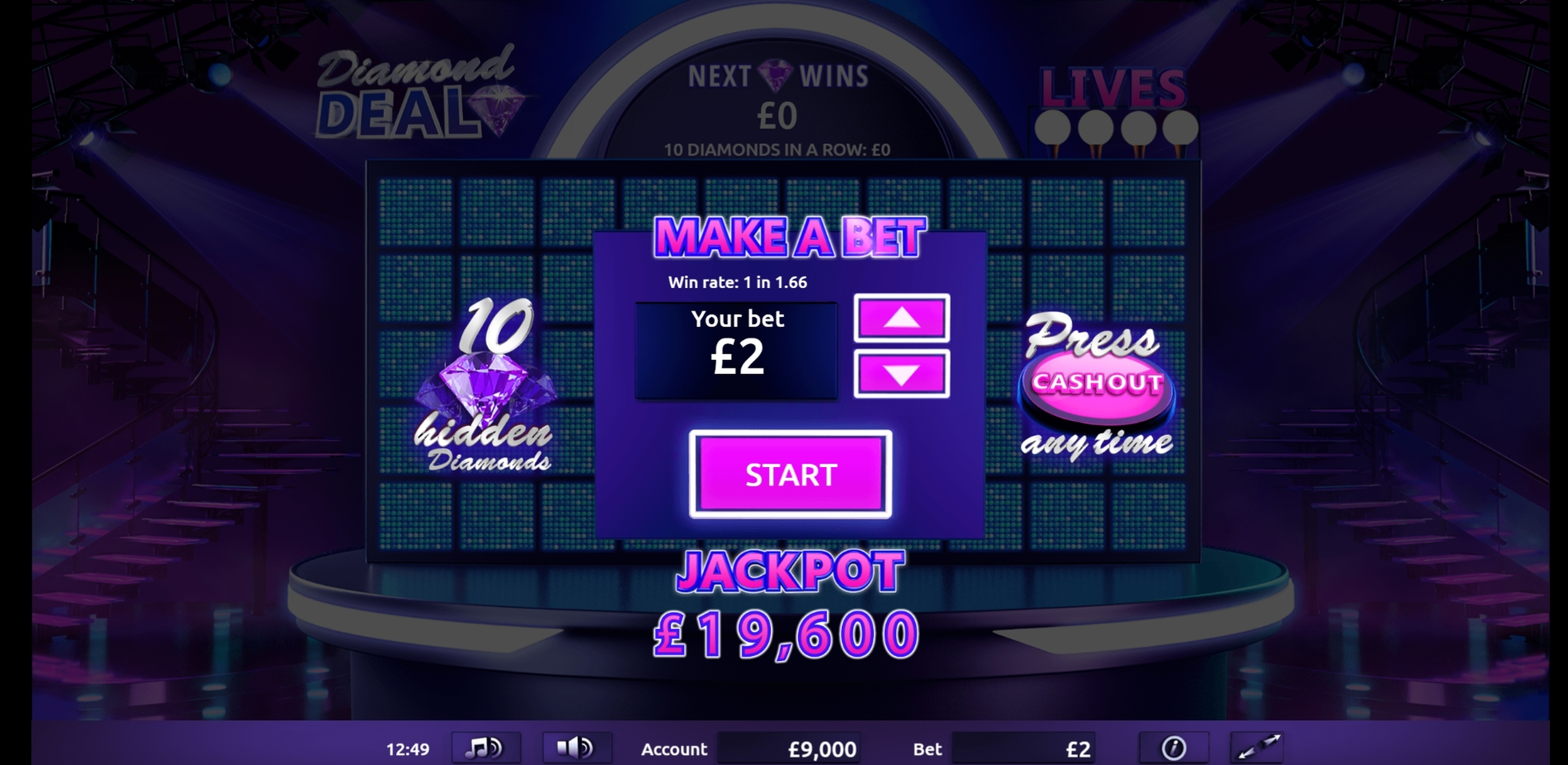 Play Diamond Deal Free Casino Slot Game by Gamevy