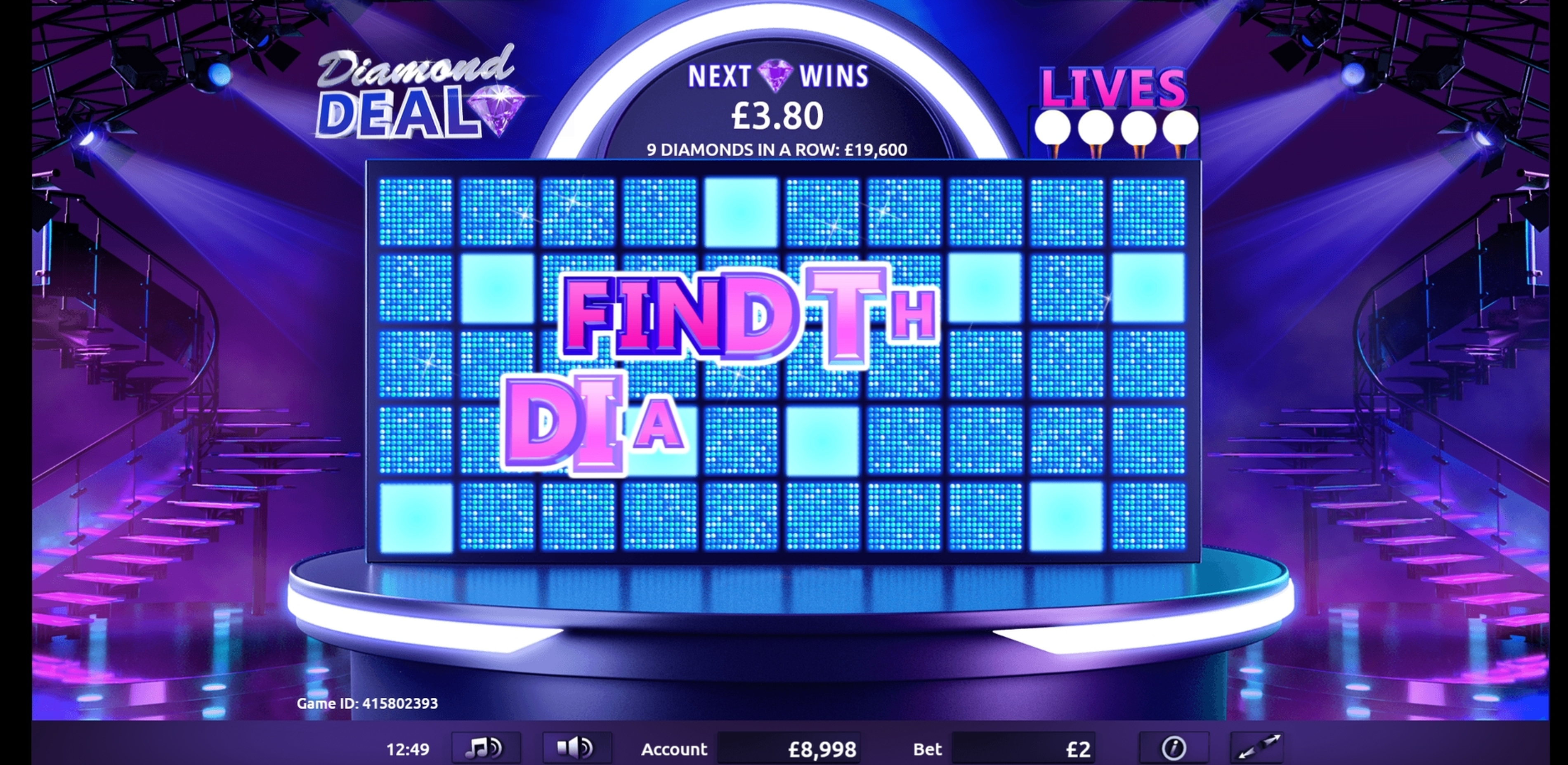 Reels in Diamond Deal Slot Game by Gamevy