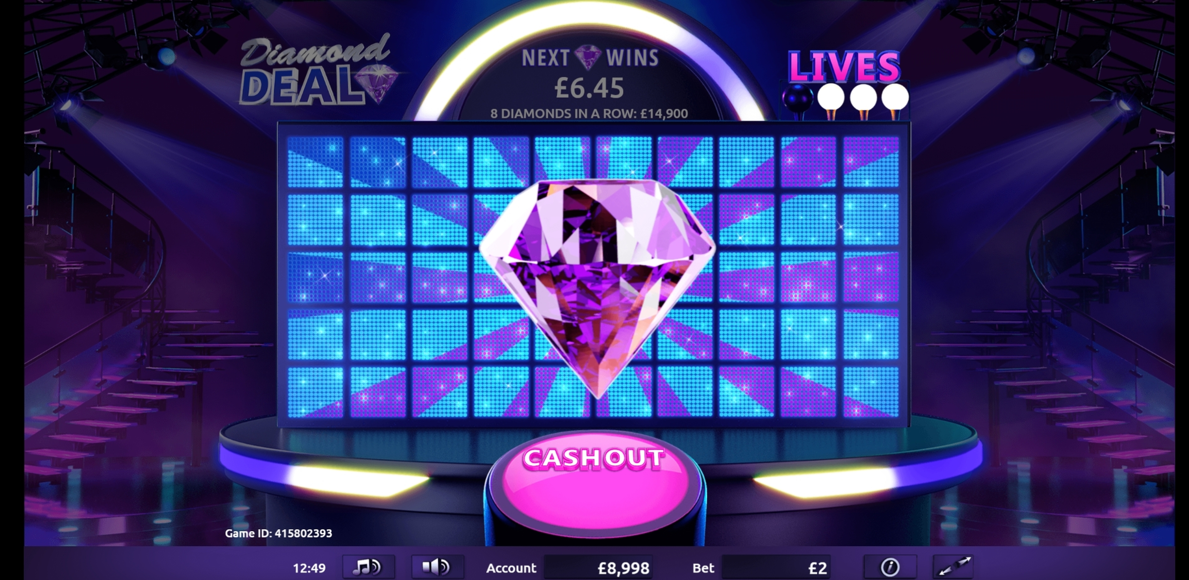 Win Money in Diamond Deal Free Slot Game by Gamevy