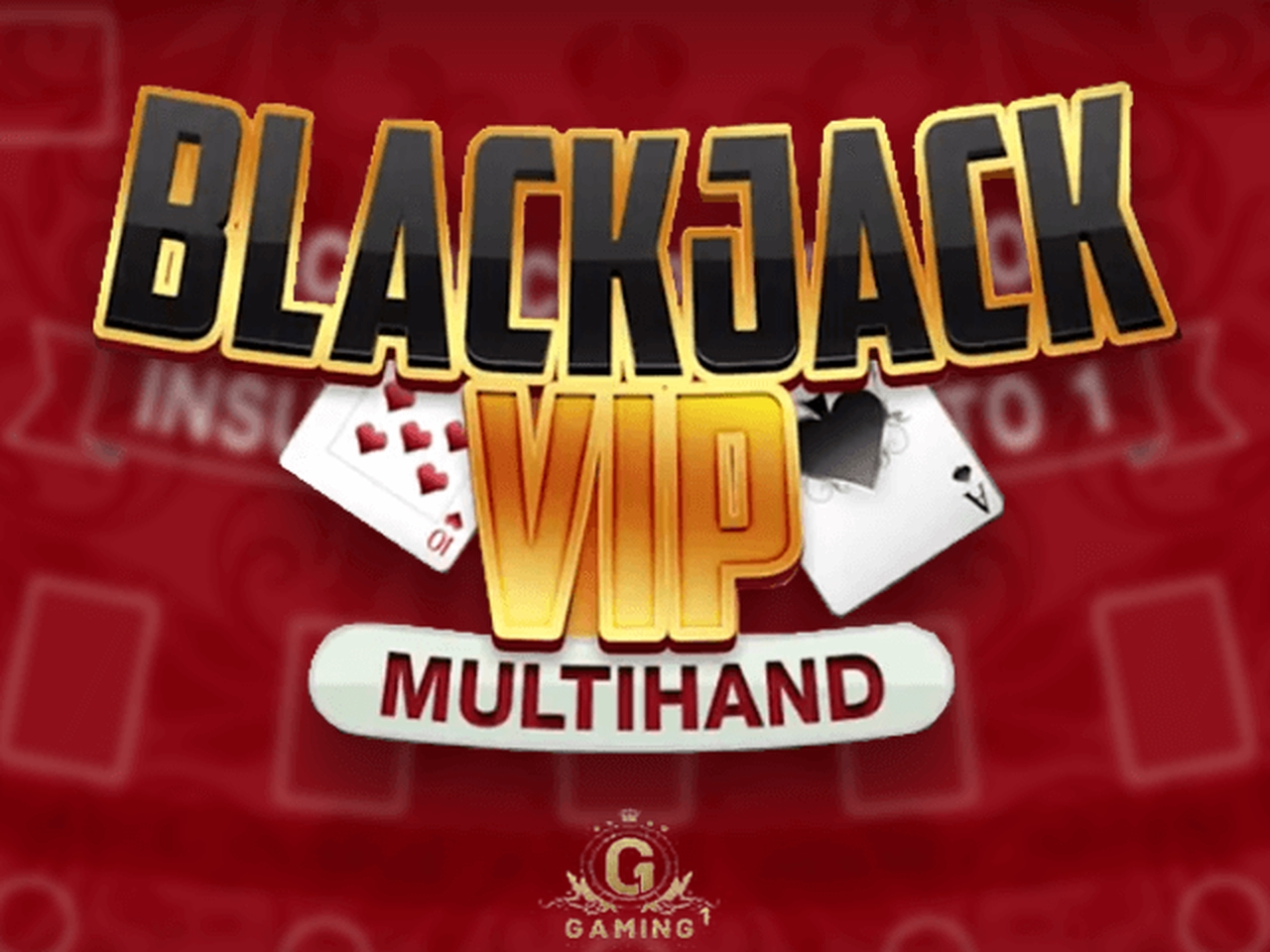 The Blackjack Multihand 7 Seats VIP Online Slot Demo Game by GAMING1