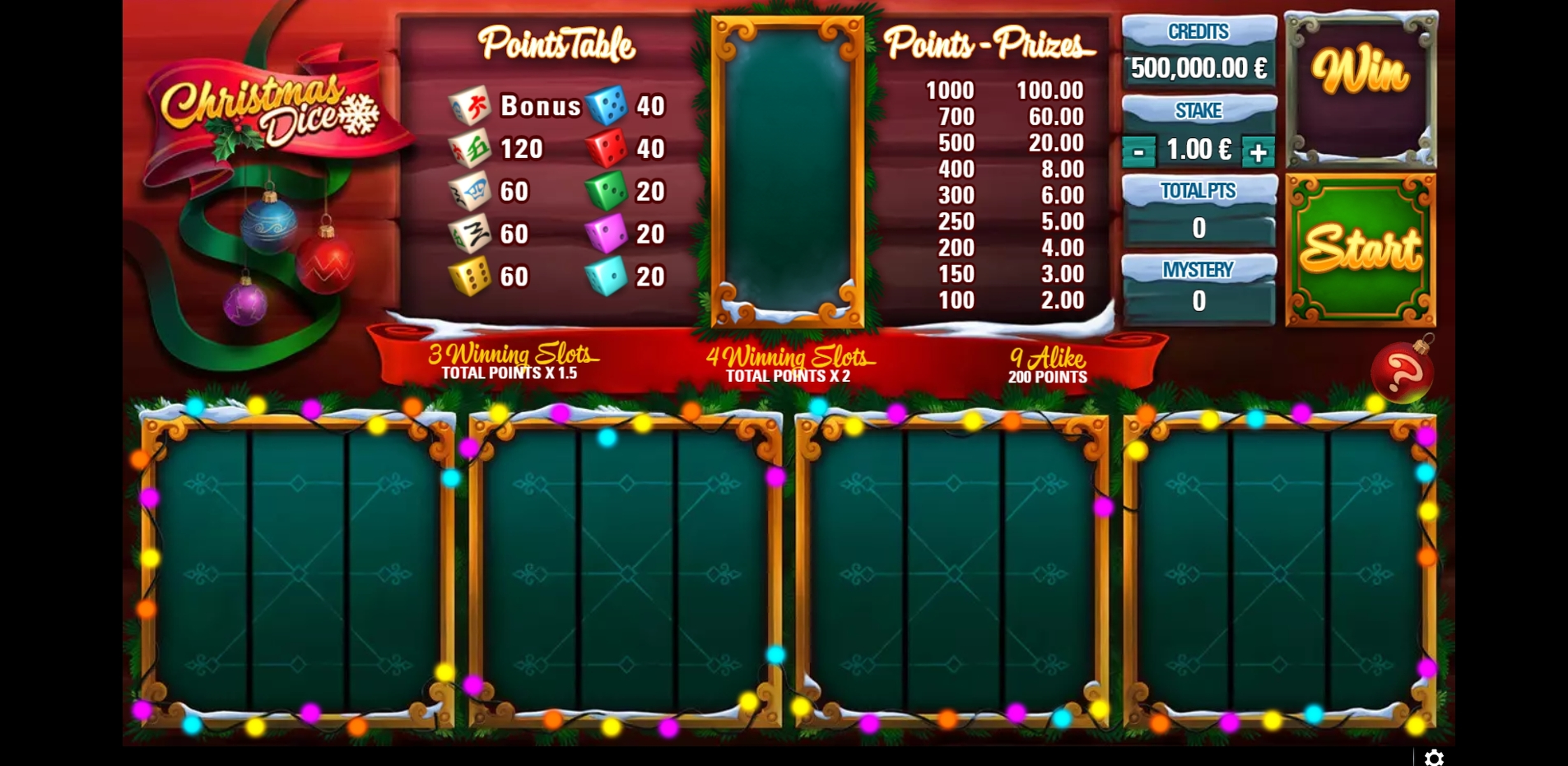 Reels in Christmas Dice Slot Game by GAMING1