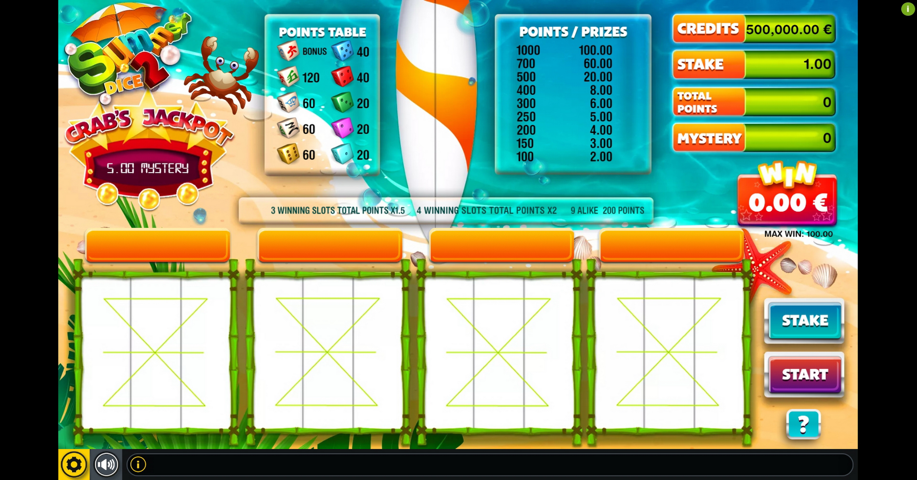 Reels in Summer Dice 2 Slot Game by GAMING1