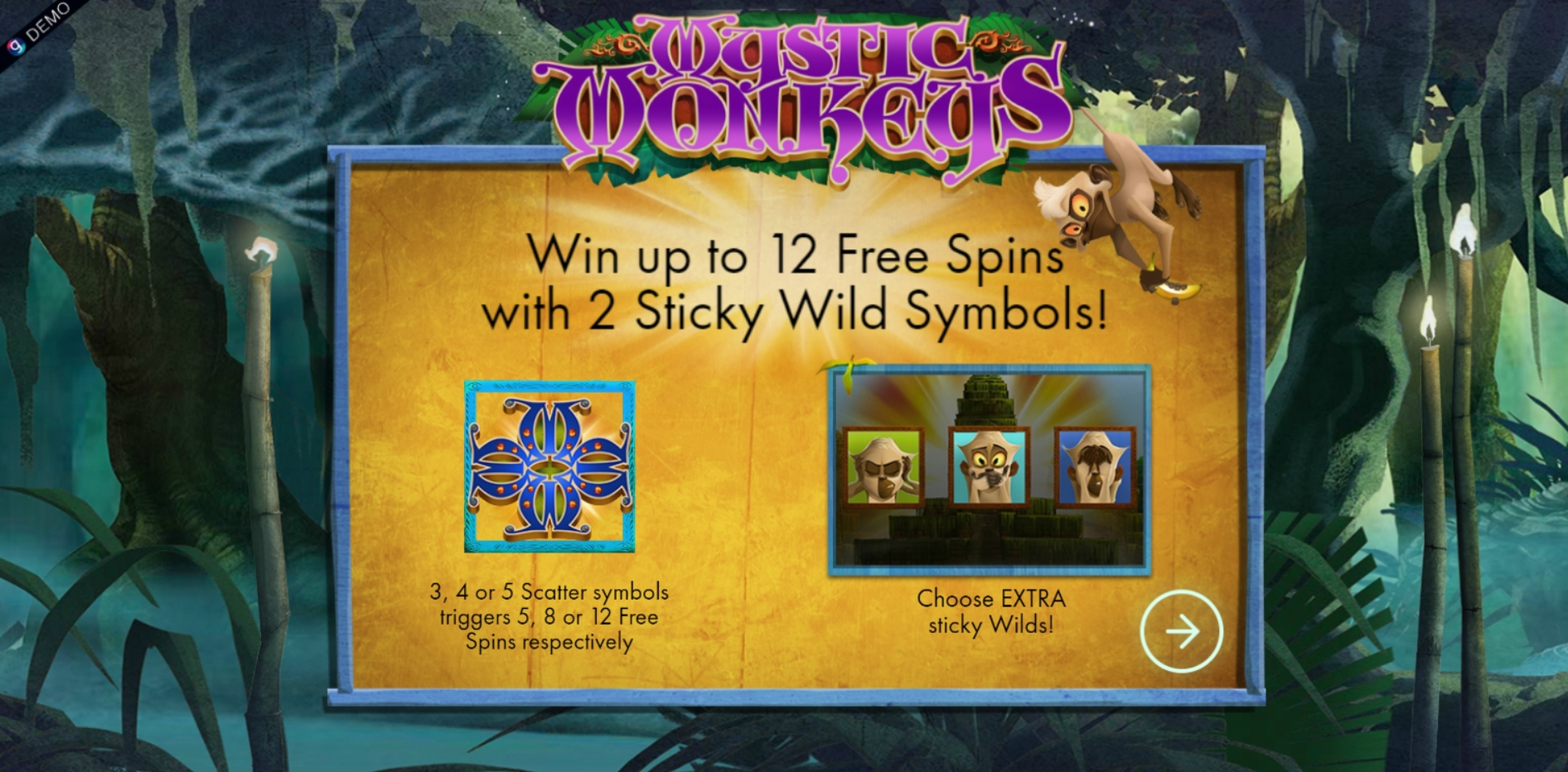 Play Mystic Monkeys Free Casino Slot Game by Genesis