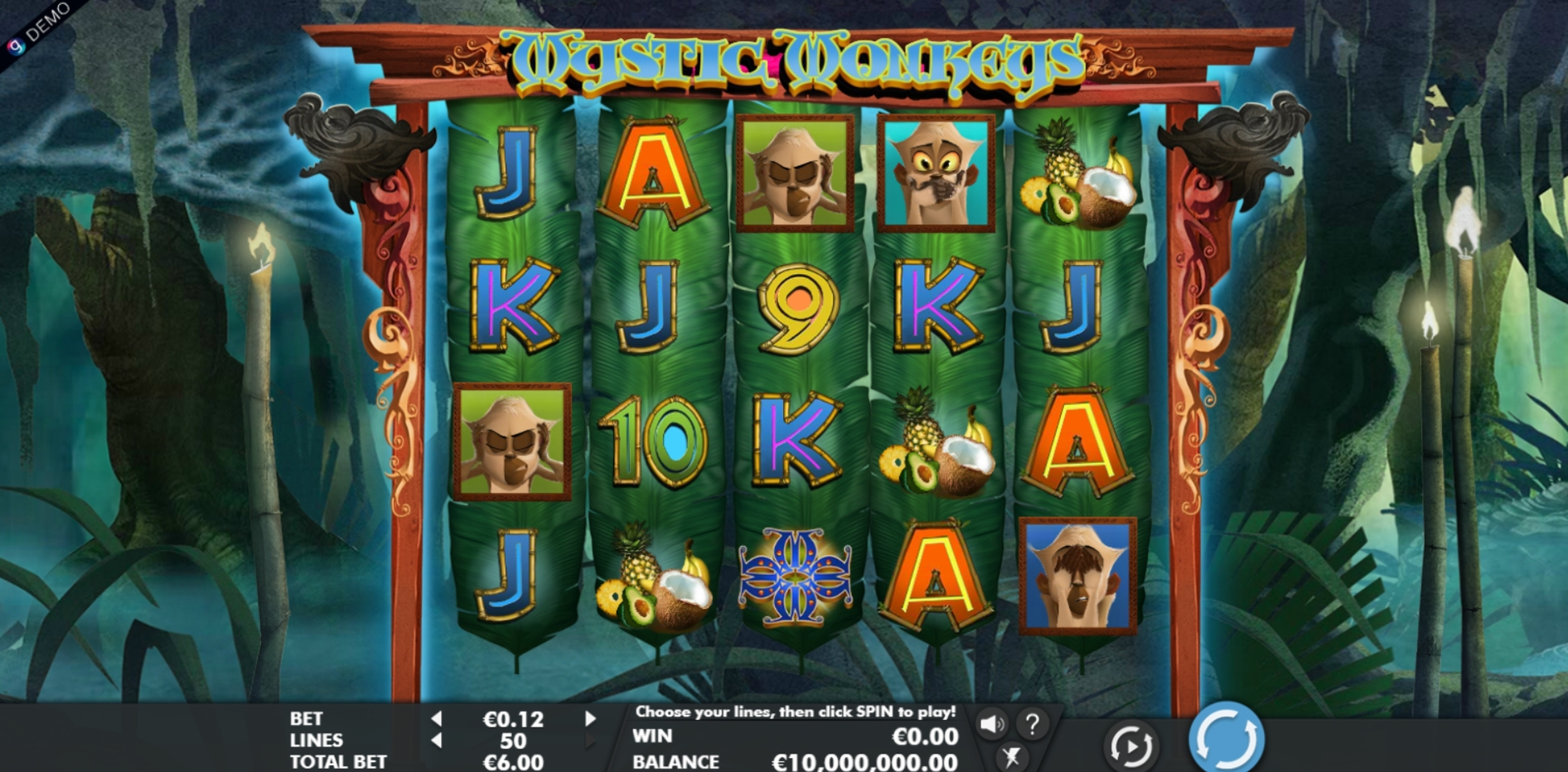 Reels in Mystic Monkeys Slot Game by Genesis