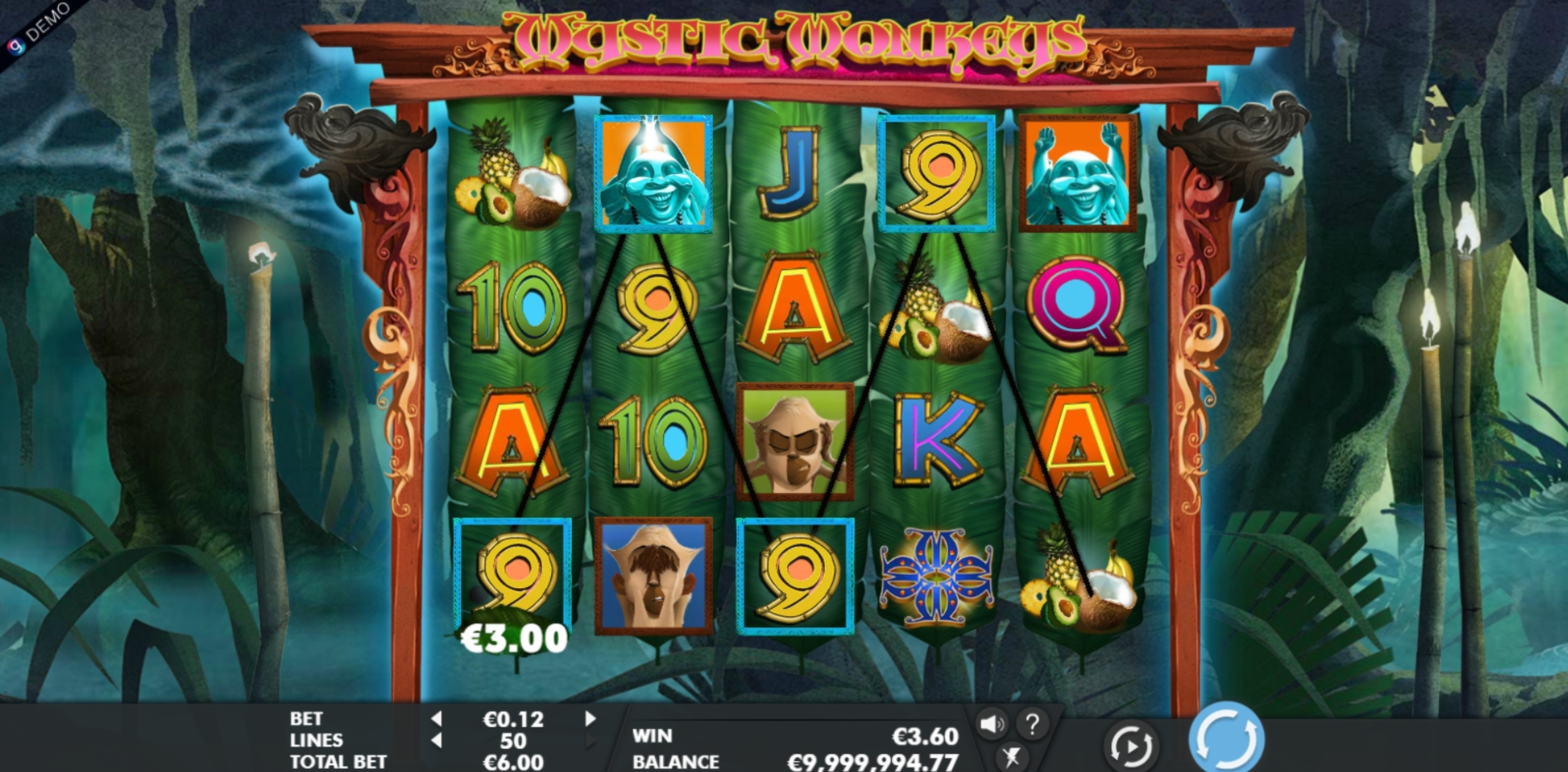 Win Money in Mystic Monkeys Free Slot Game by Genesis