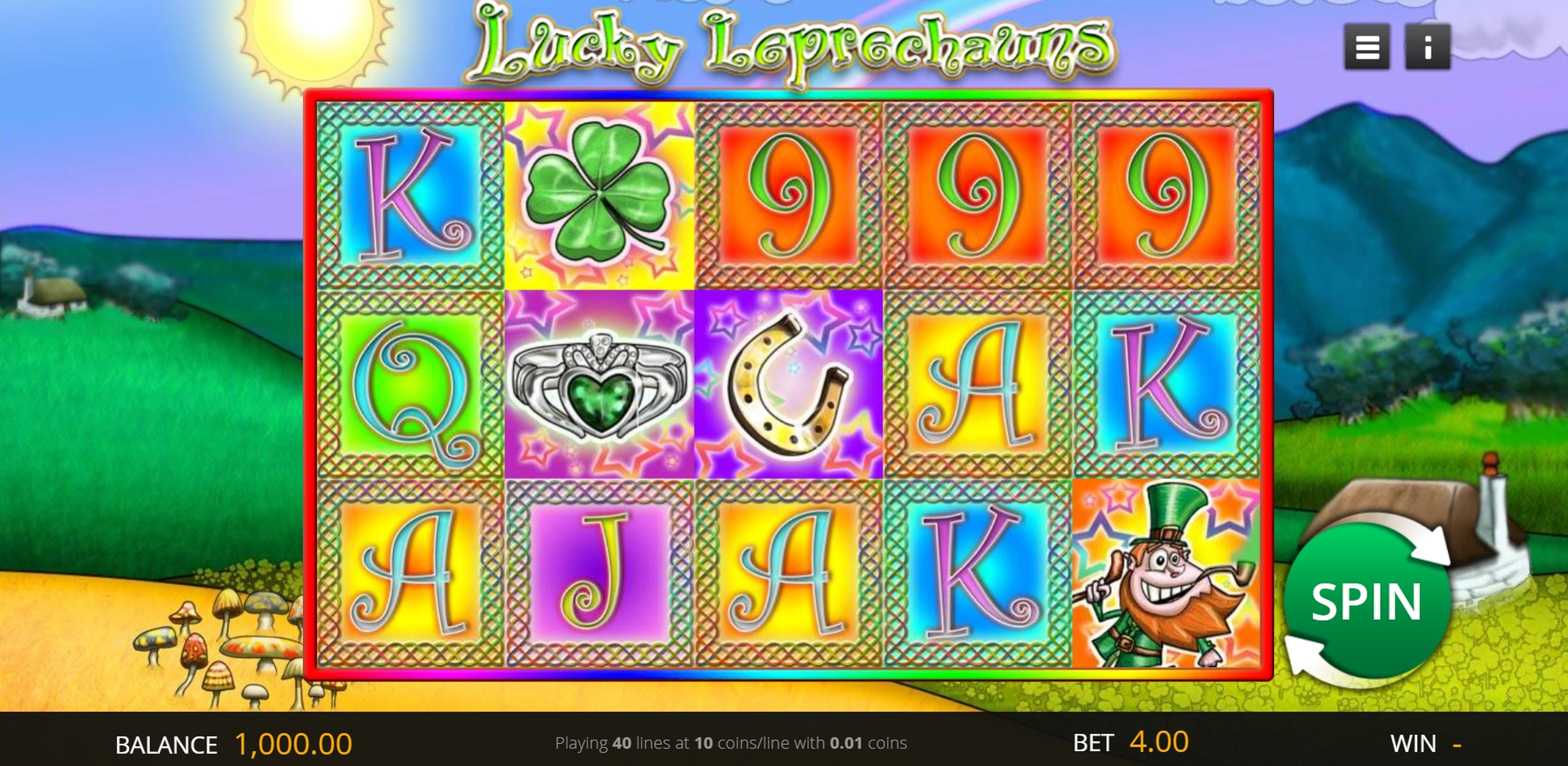 Reels in Lucky Leprechauns Slot Game by Genii