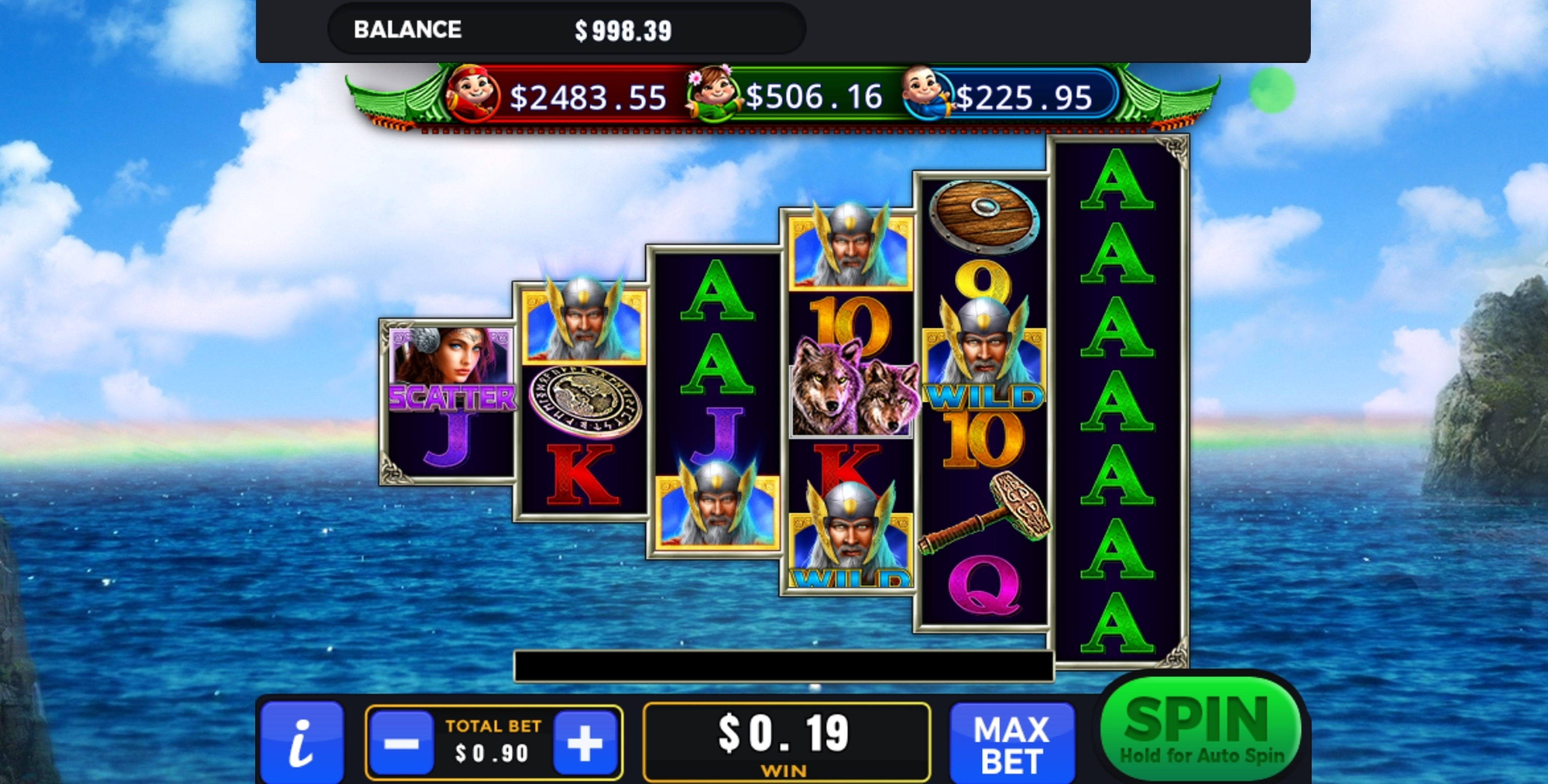 Win Money in Asgard (GMW) Free Slot Game by GMW