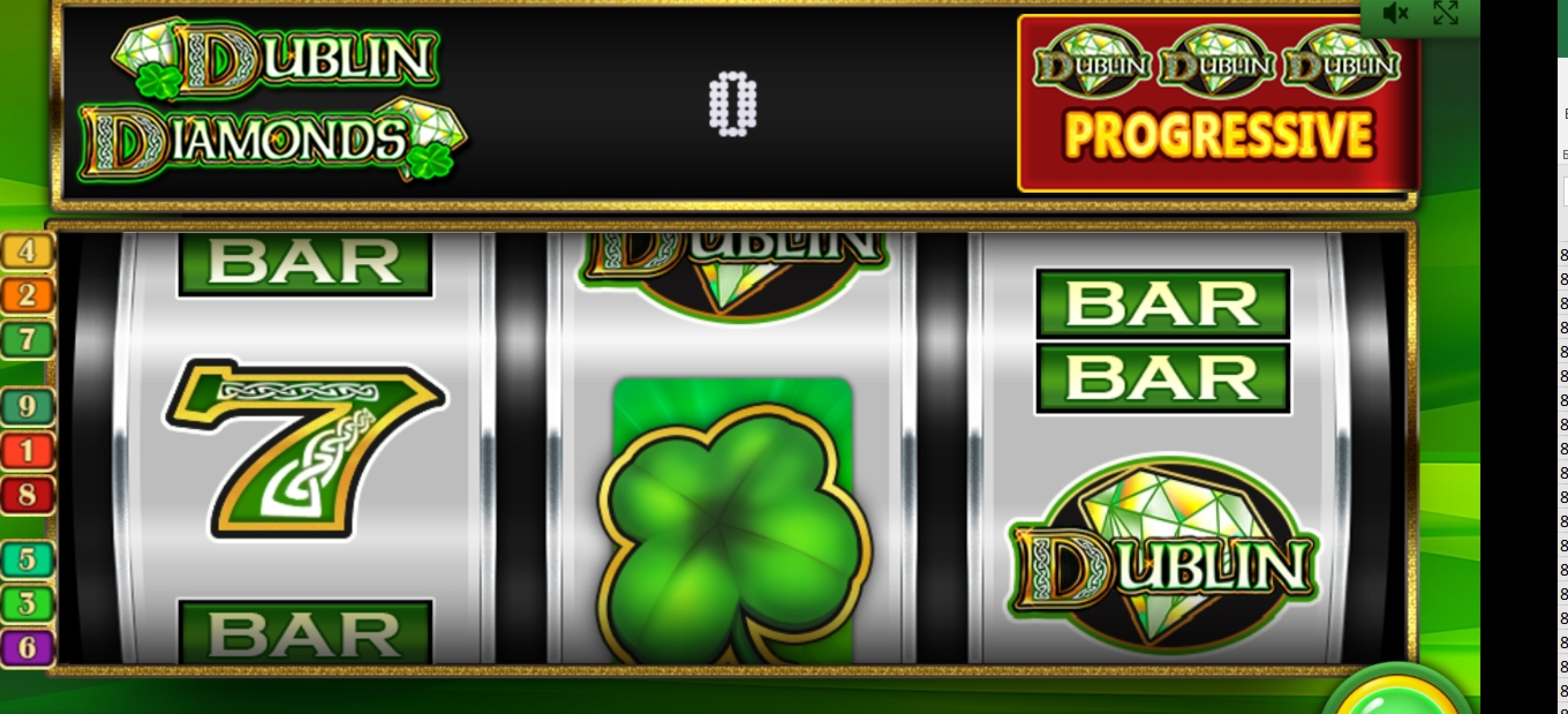 Reels in Dublin Diamonds Slot Game by IGT
