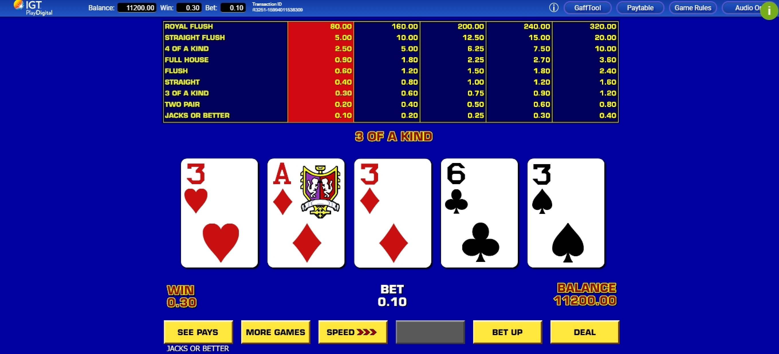 Win Money in Game King Video Poker Free Slot Game by IGT