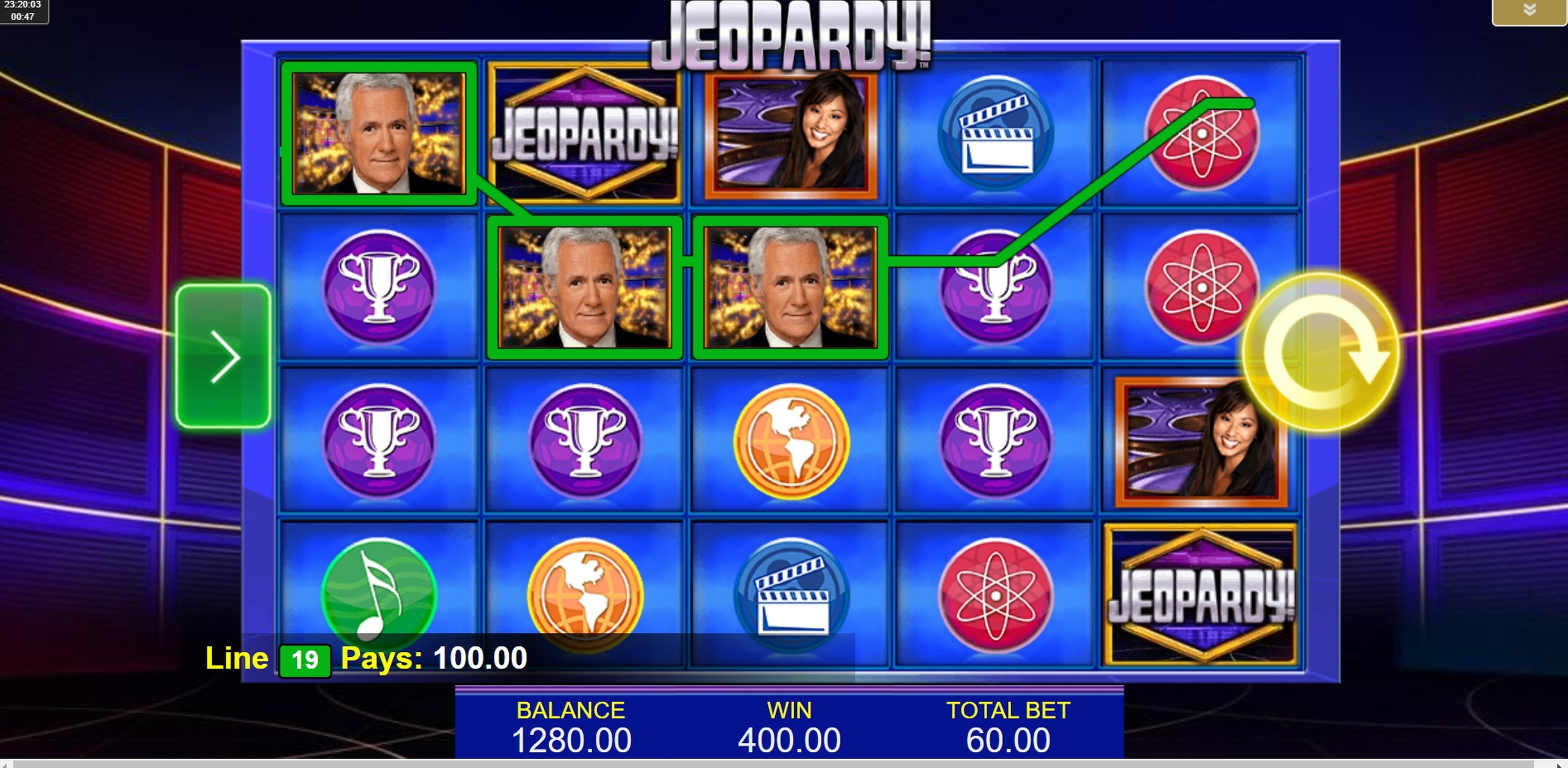 Win Money in Jeopardy! Free Slot Game by IGT