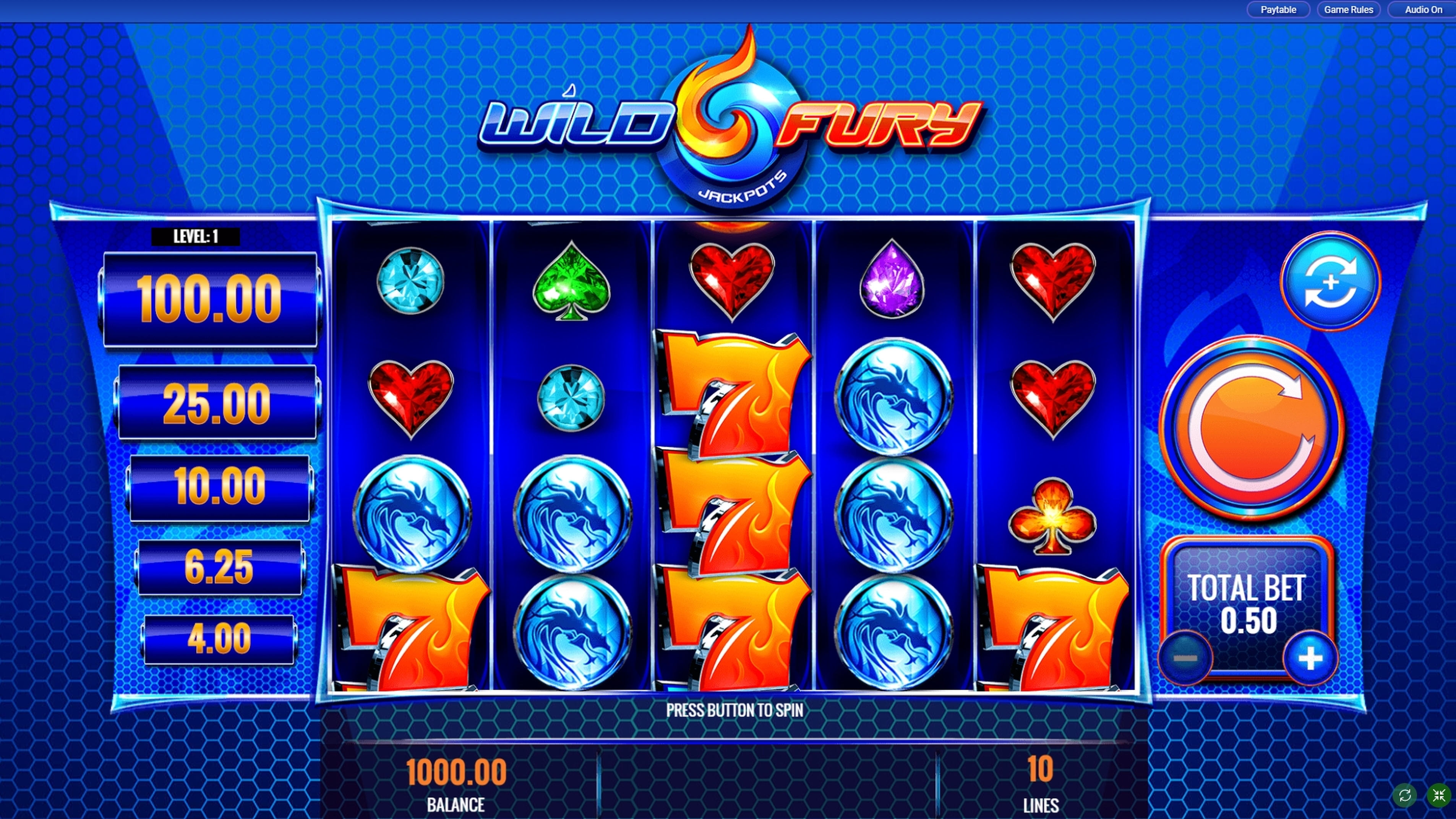 Reels in Wild Fury Jackpots Slot Game by IGT