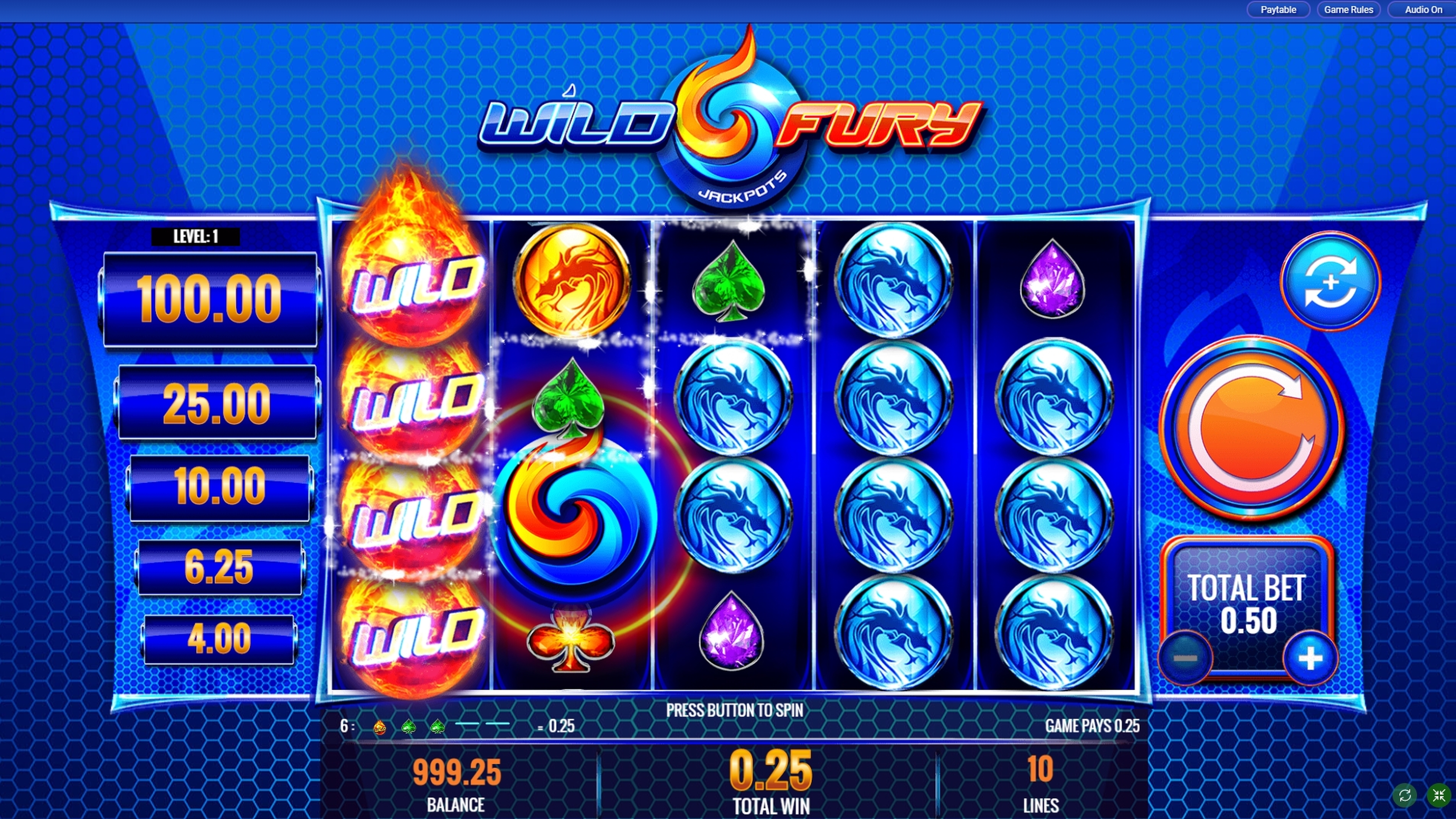 Win Money in Wild Fury Jackpots Free Slot Game by IGT