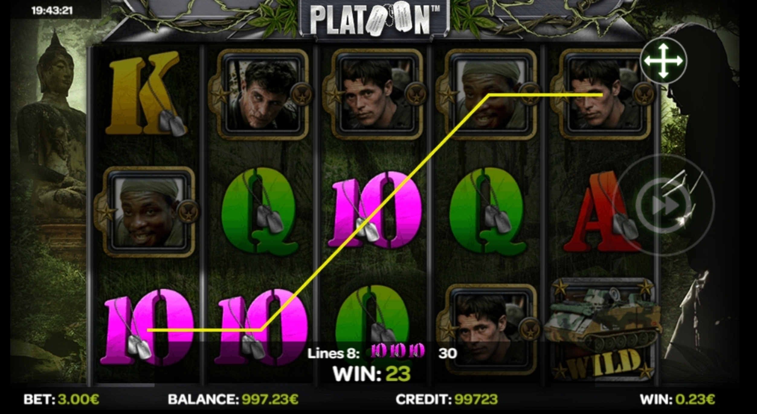 Win Money in Platoon Free Slot Game by iSoftBet