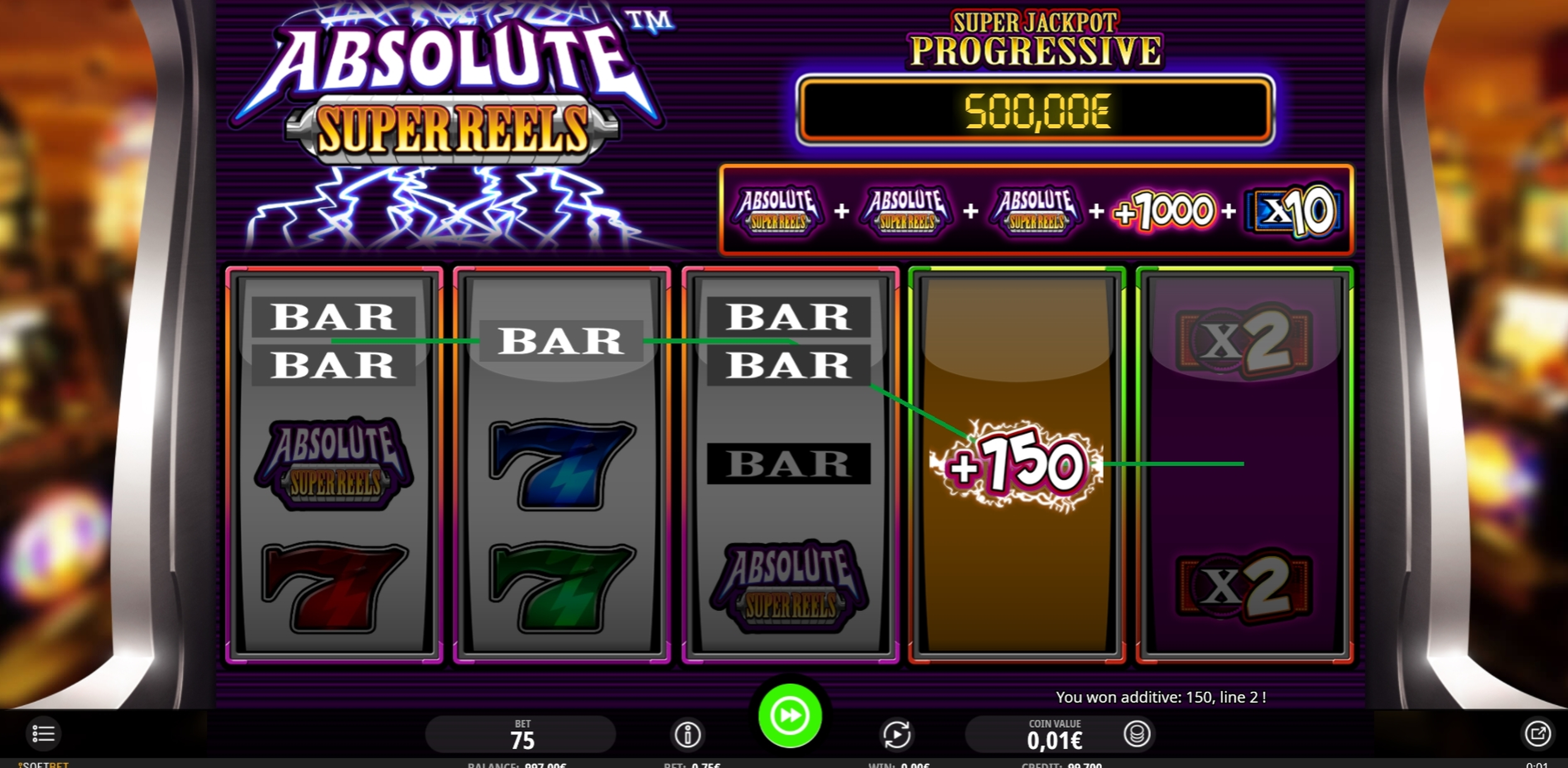 Win Money in Super Multitimes Progressive Free Slot Game by iSoftBet