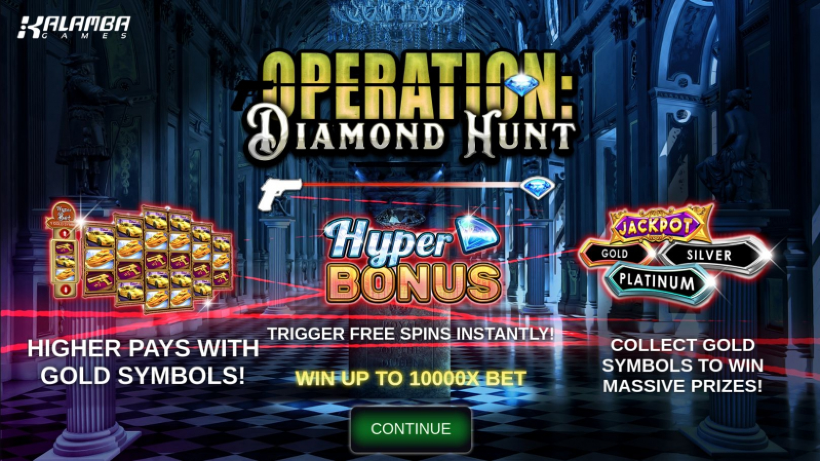 The Operation Diamond Hunt Online Slot Demo Game by Kalamba Games