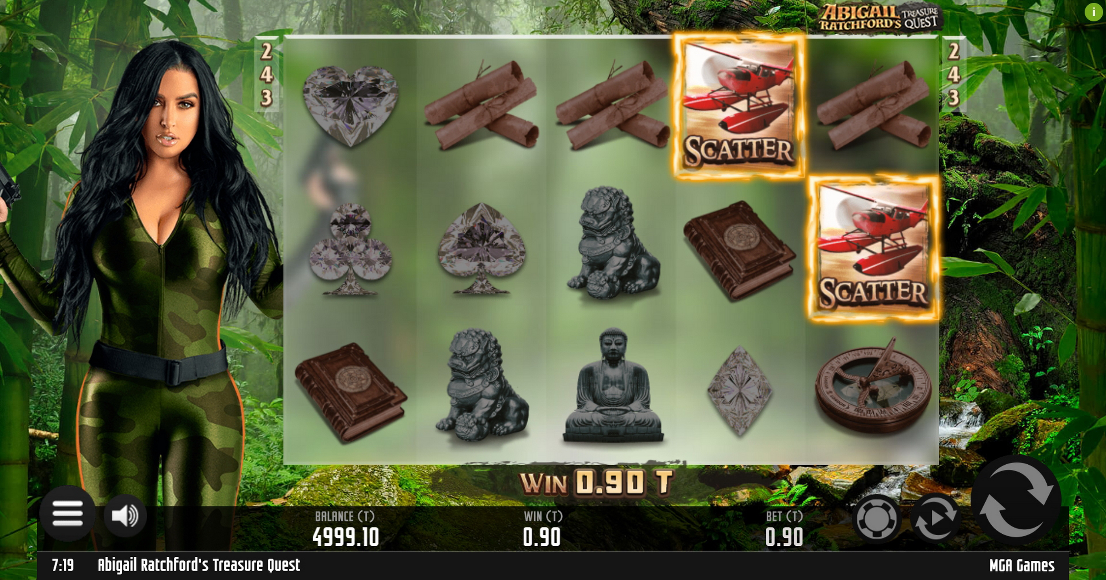 Win Money in Abigail Ratchfords Treasure Quest Free Slot Game by MGA