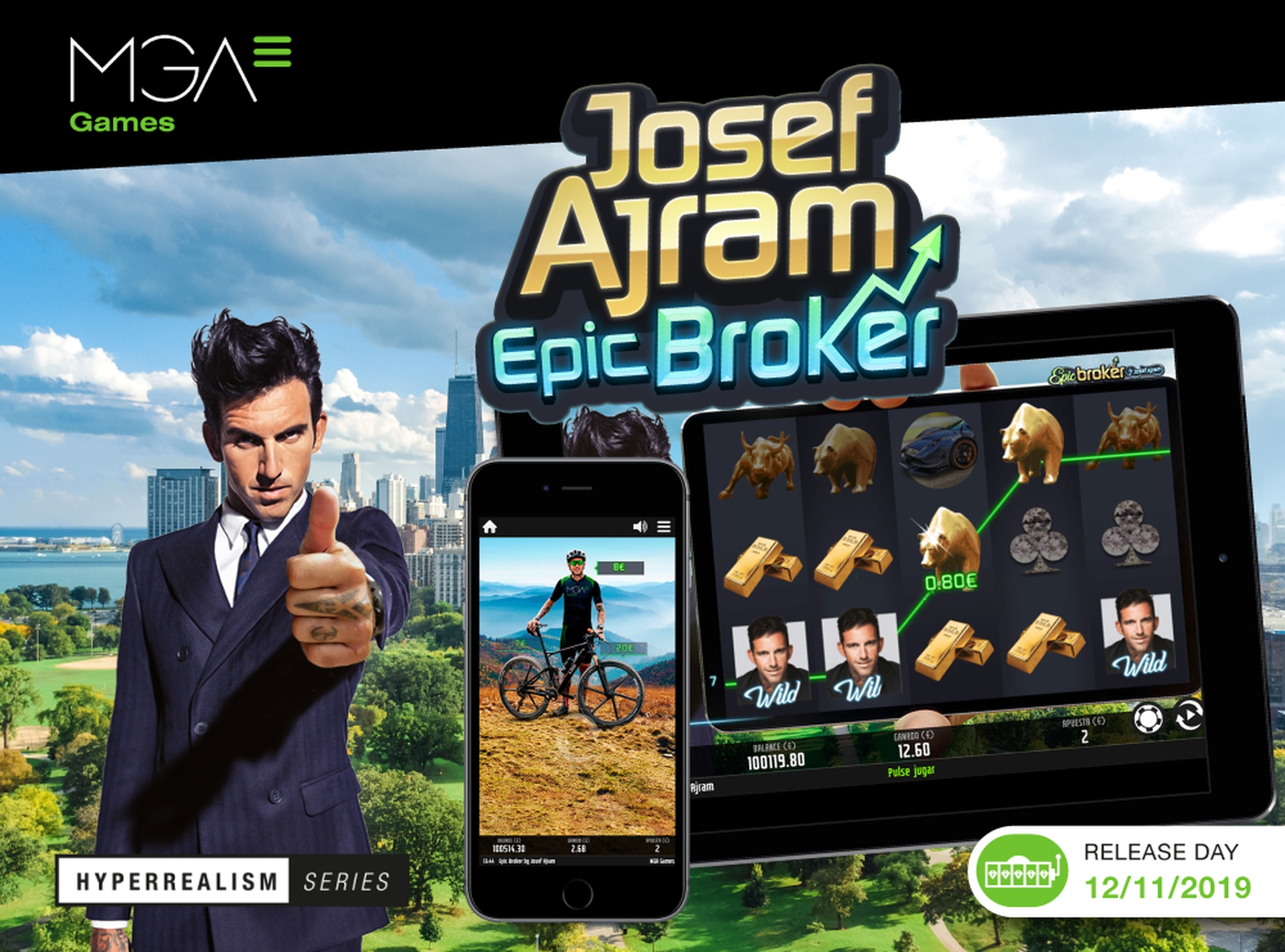 The Josef Ajram Epic Broker Online Slot Demo Game by MGA