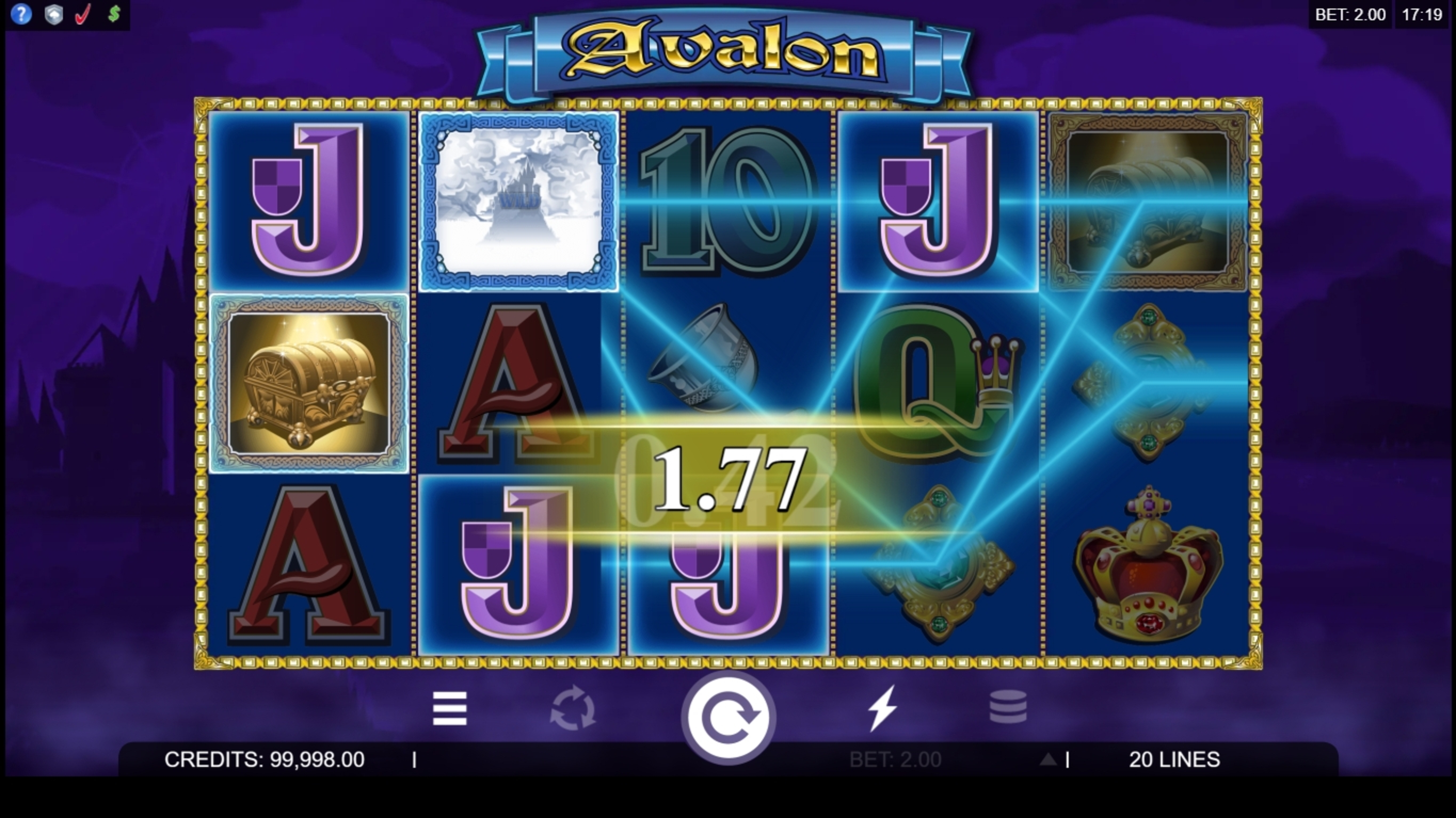 Win Money in Avalon Free Slot Game by Microgaming