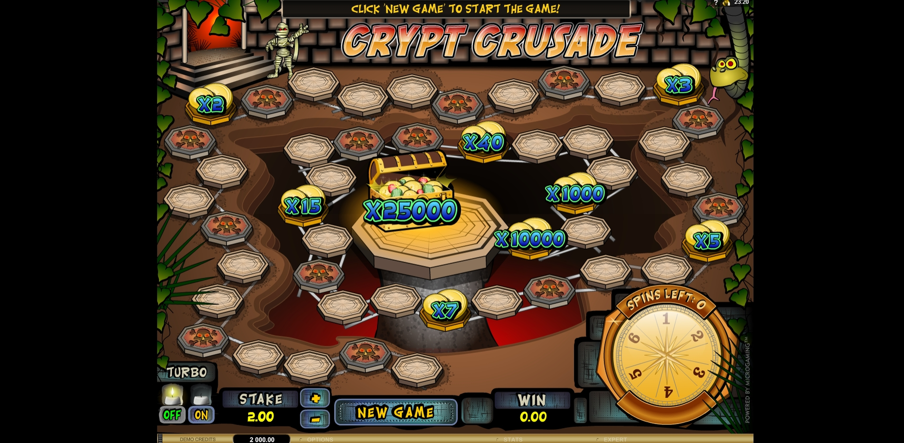 Reels in Crypt Crusade Slot Game by Microgaming
