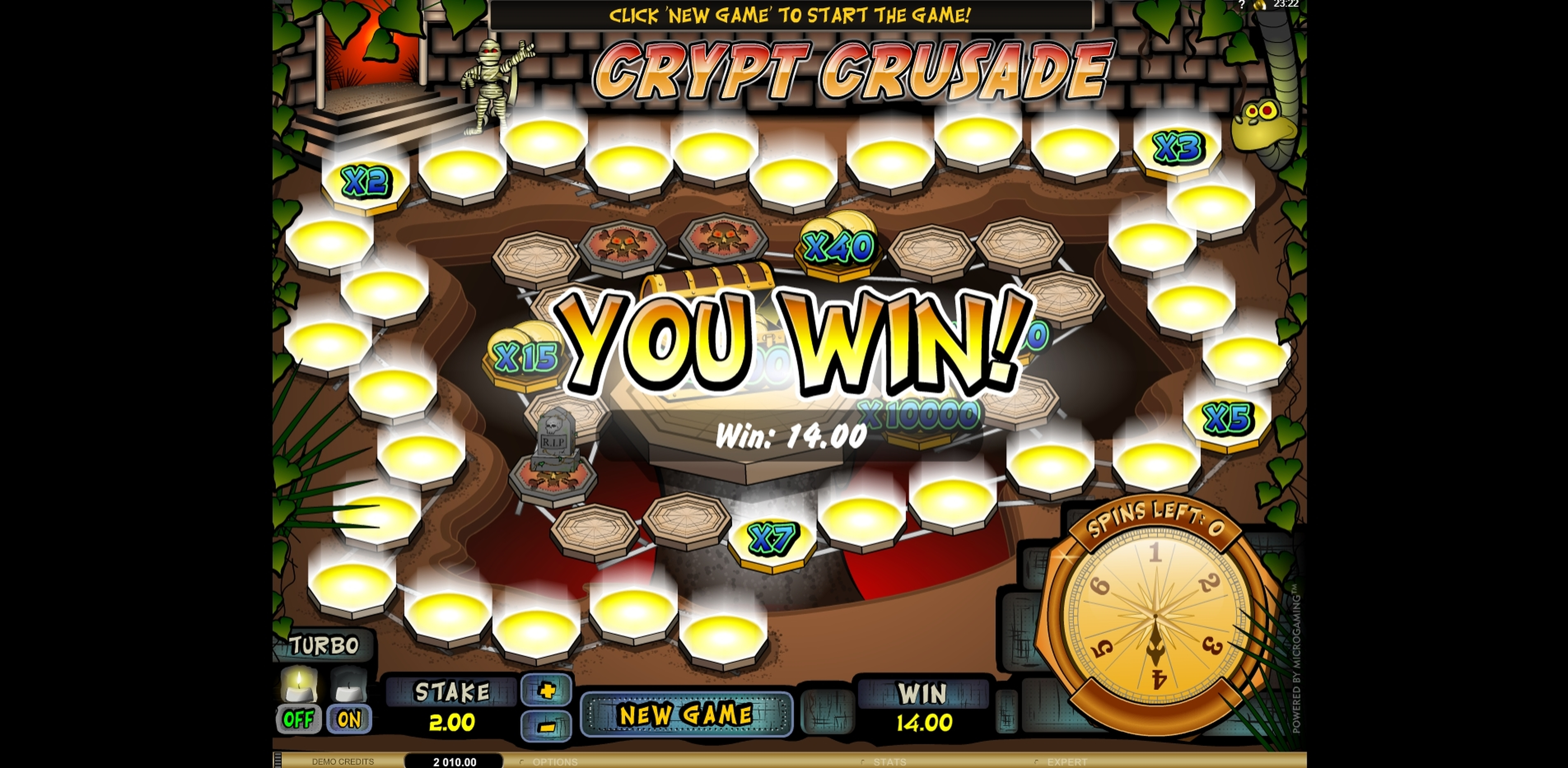 Win Money in Crypt Crusade Free Slot Game by Microgaming