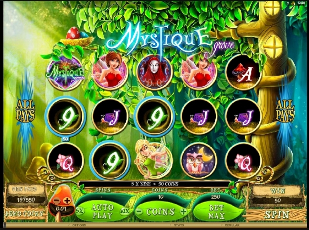 Win Money in Mystique Grove Free Slot Game by Microgaming